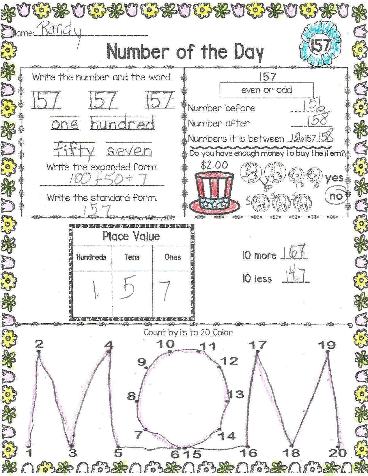 Expanded form Worksheets 1st Grade Pin On the Fun Factory S Teachers Pay Teachers Resources and