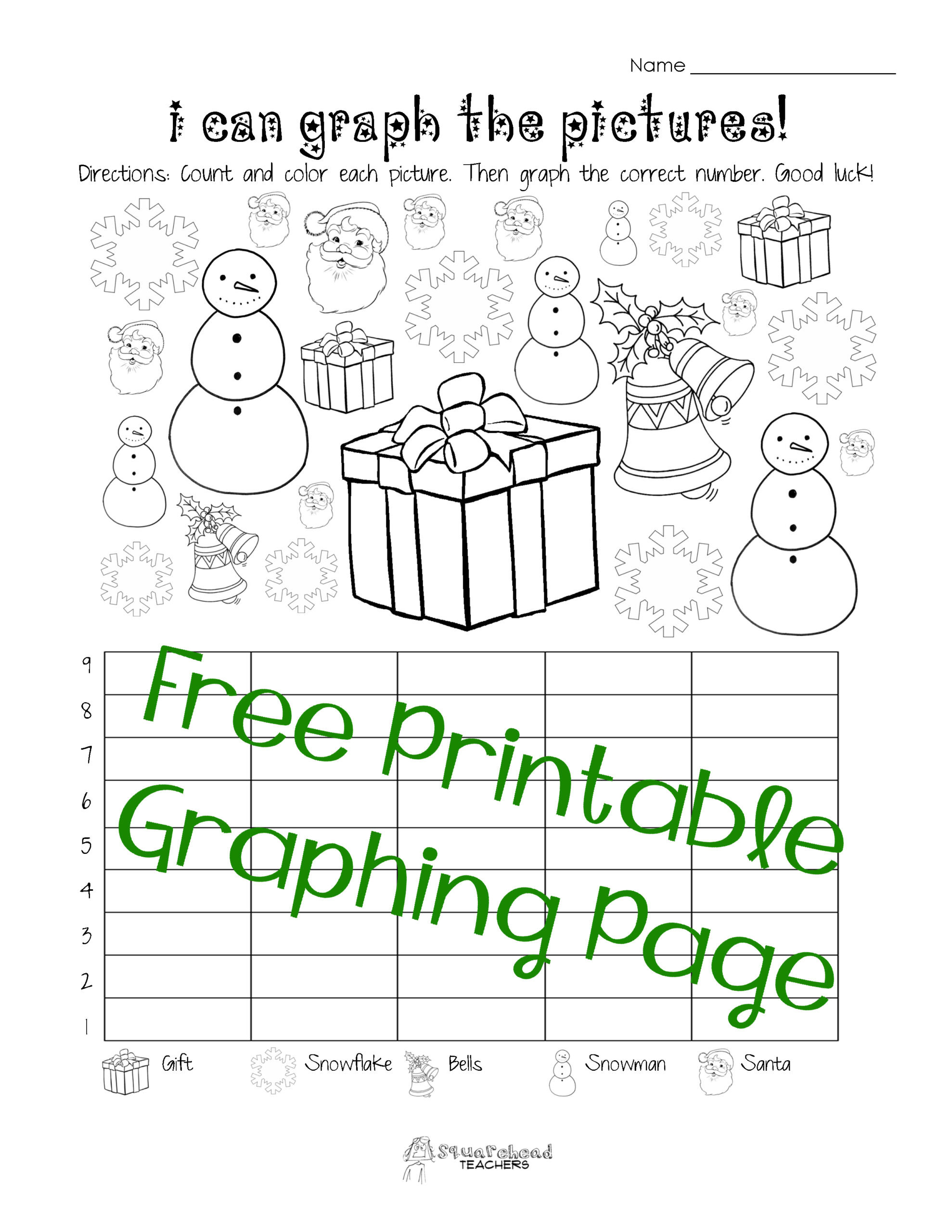 First Grade Graphing Worksheets Free Christmas Winter Graphing Worksheet Kindergarten First