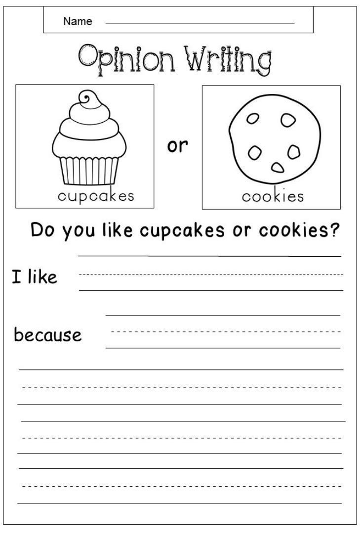 Free Opinion Writing Printable kindermomma