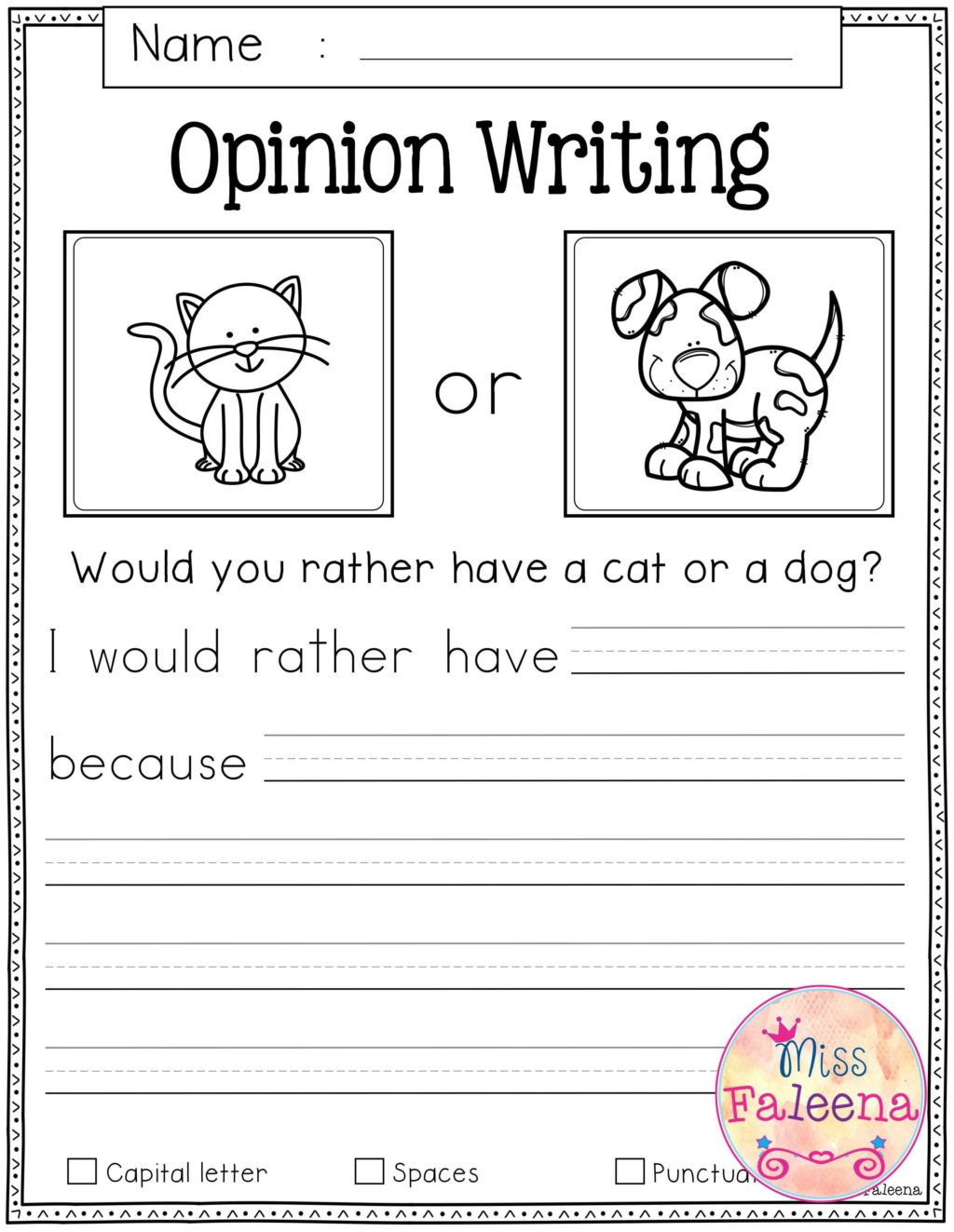 First Grade Writing Worksheets Worksheet Worksheet Writing Worksheets for Kindergarten