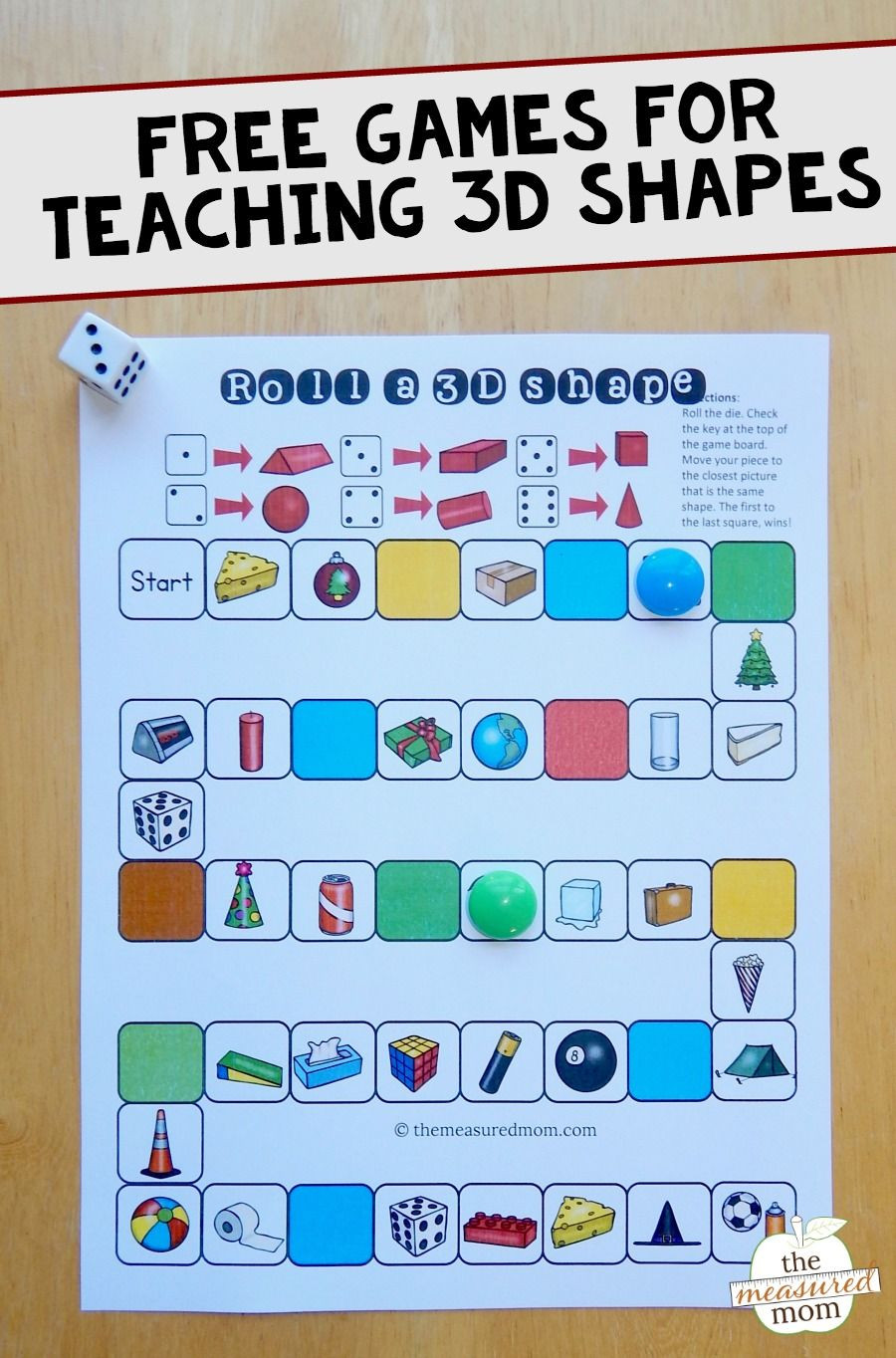Free Printable 3d Shapes Worksheets Free Games for Teaching About 3d Shapes