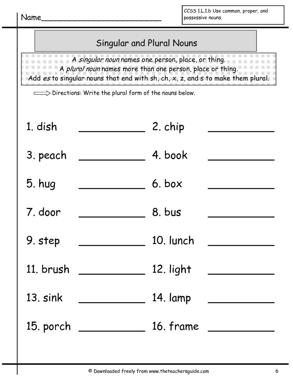 Free Printable Capitalization Worksheets Worksheet Worksheet First Grade Language Arts Worksheets