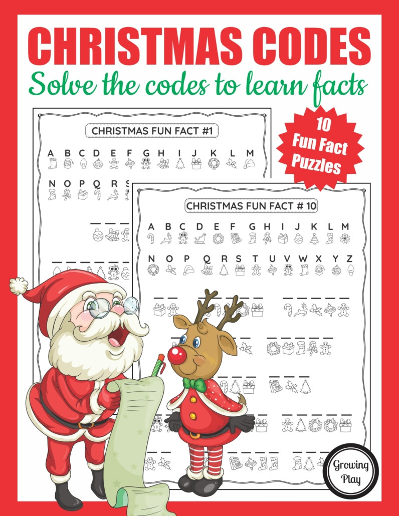 Free Printable Secret Code Worksheets Christmas Secret Code Worksheet Free Printable Growing Play