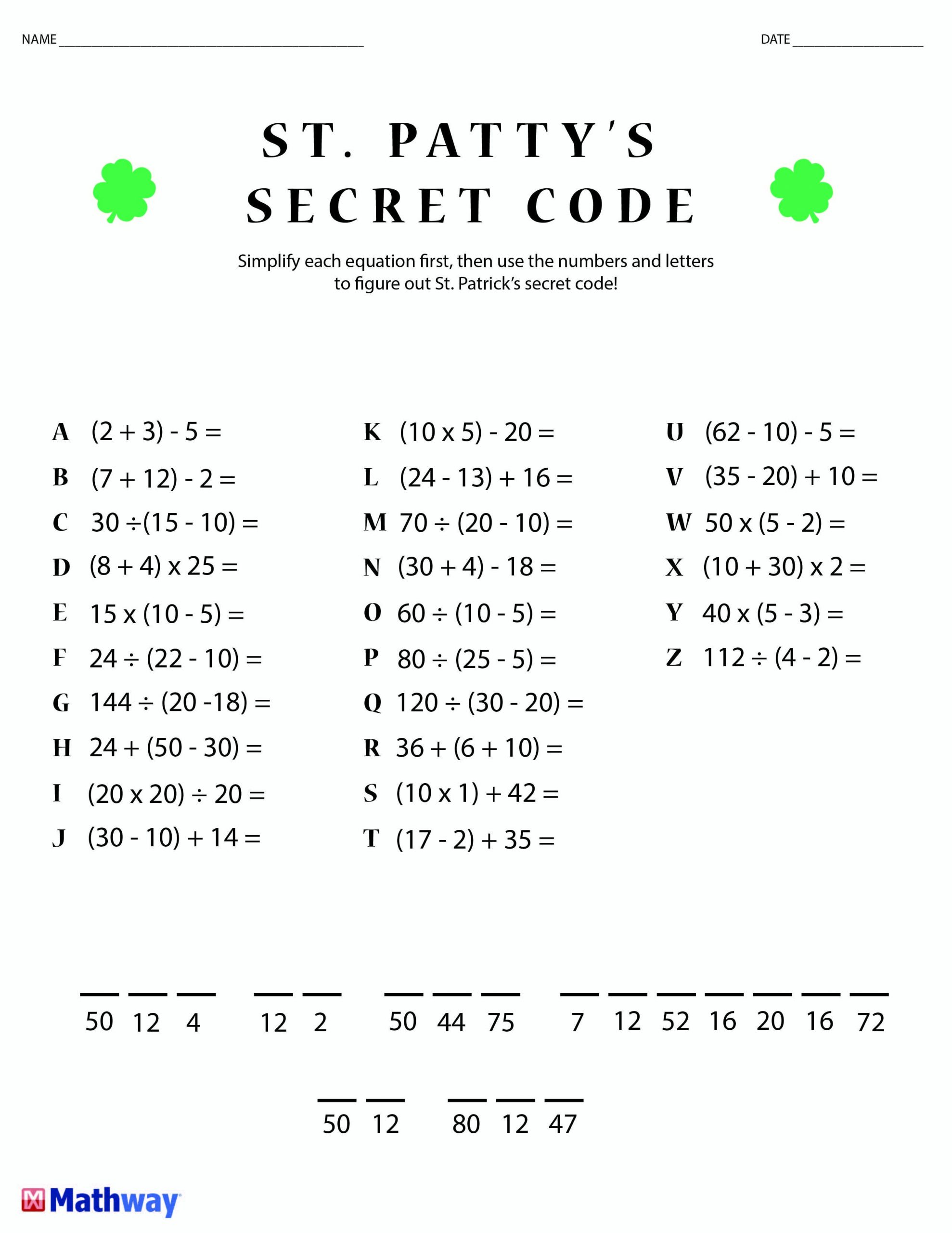 Free Printable Secret Code Worksheets Free Explode the Code Worksheets