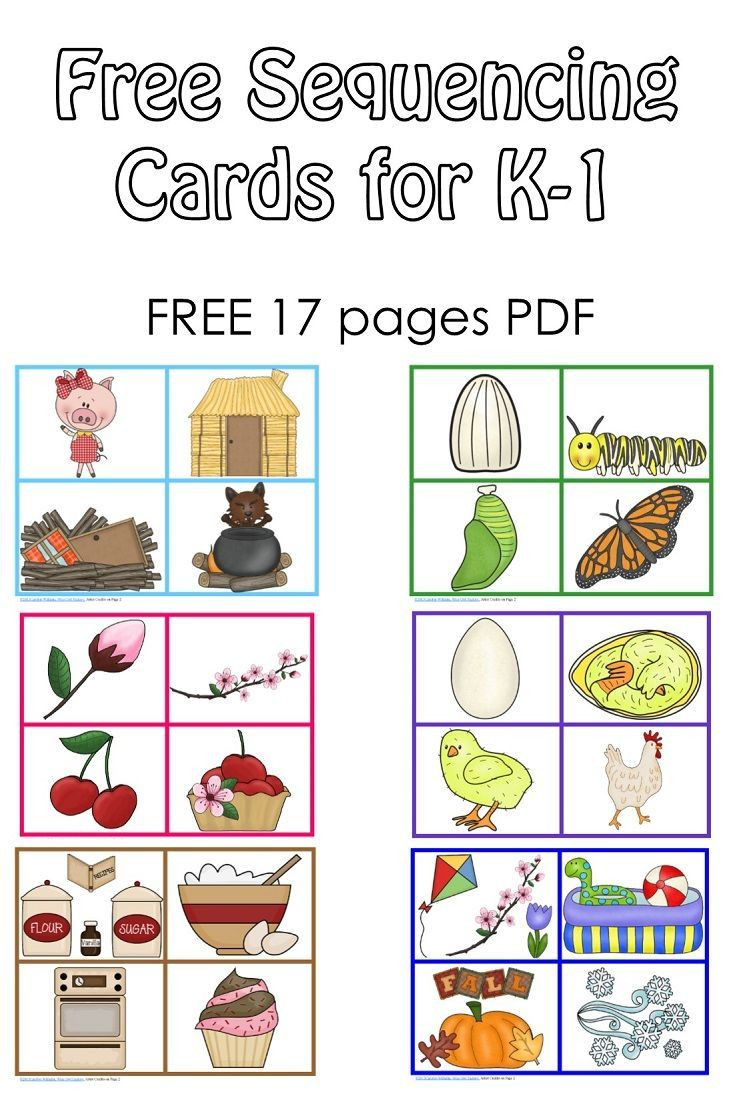 Free Printable Sequencing Worksheets Free Sequencing Cards and Color Matching for Pre K K 1 3