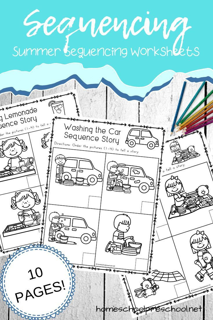 Free Printable Sequencing Worksheets Free Sequencing Worksheets for Summer Learning