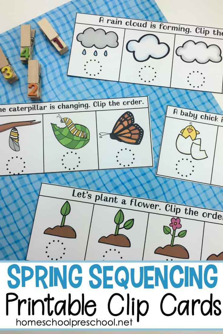 Free Printable Sequencing Worksheets Free Spring Sequencing Cards Printable for Preschoolers