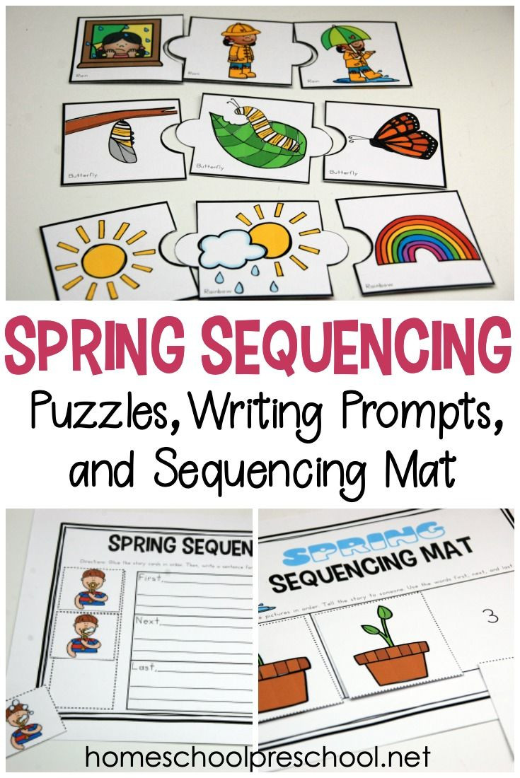 Free Printable Story Sequencing Worksheets Free Printable Spring Sequence Cards for Preschoolers