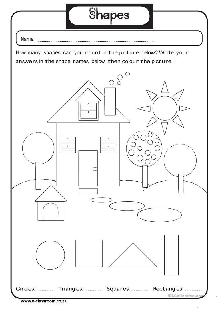 Geometric Shapes Worksheets 2nd Grade Geometry Shapes English Esl Worksheets for Distance Learning