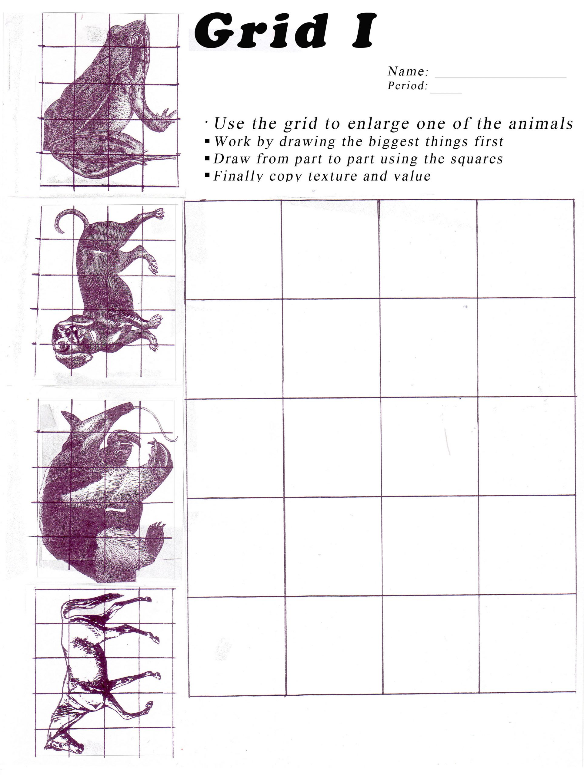 Grid Drawing Worksheets Middle School Unit 4 Grid Drawing