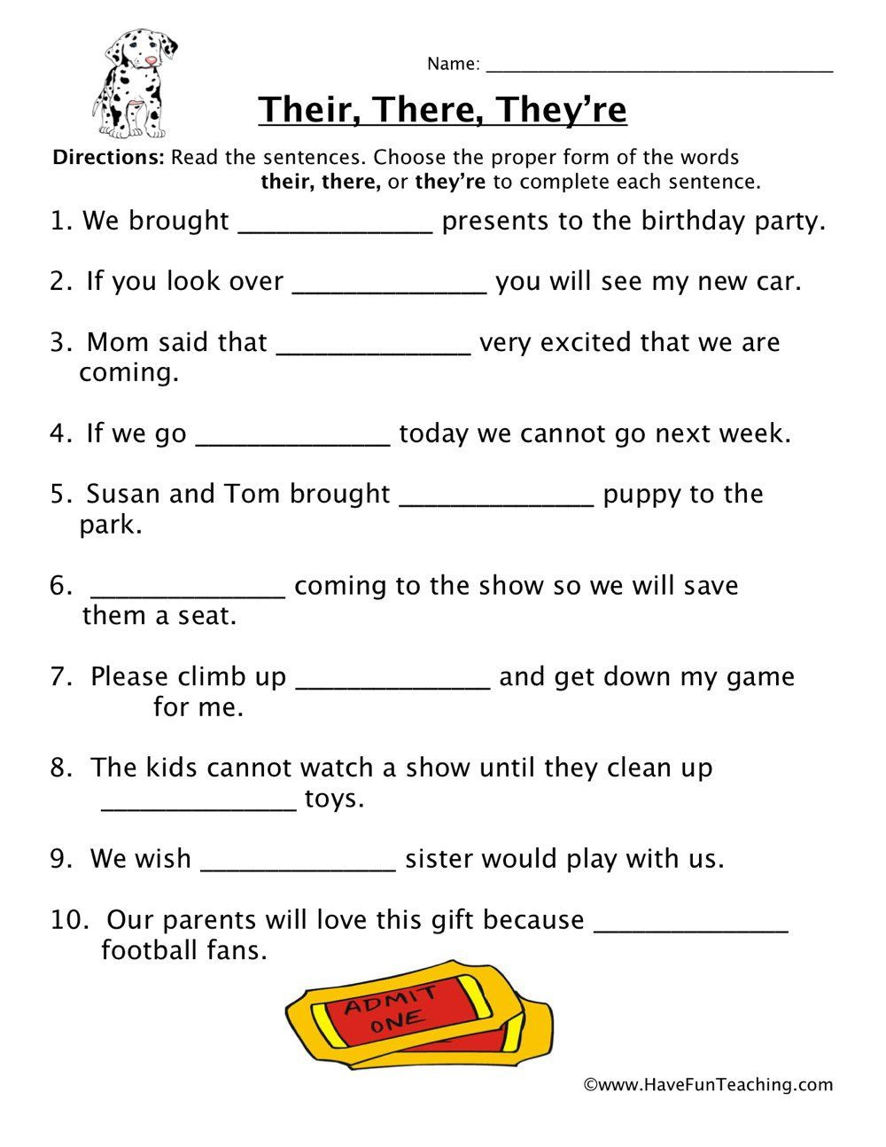 Homophones Worksheets 2nd Grade their there they Re Homophones Worksheet