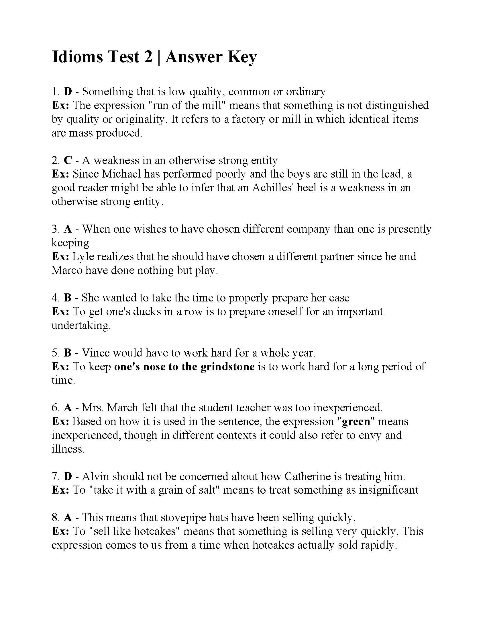 Idiom Worksheets for 2nd Grade Division Questions Year 6 Time Table Worksheets for 2nd