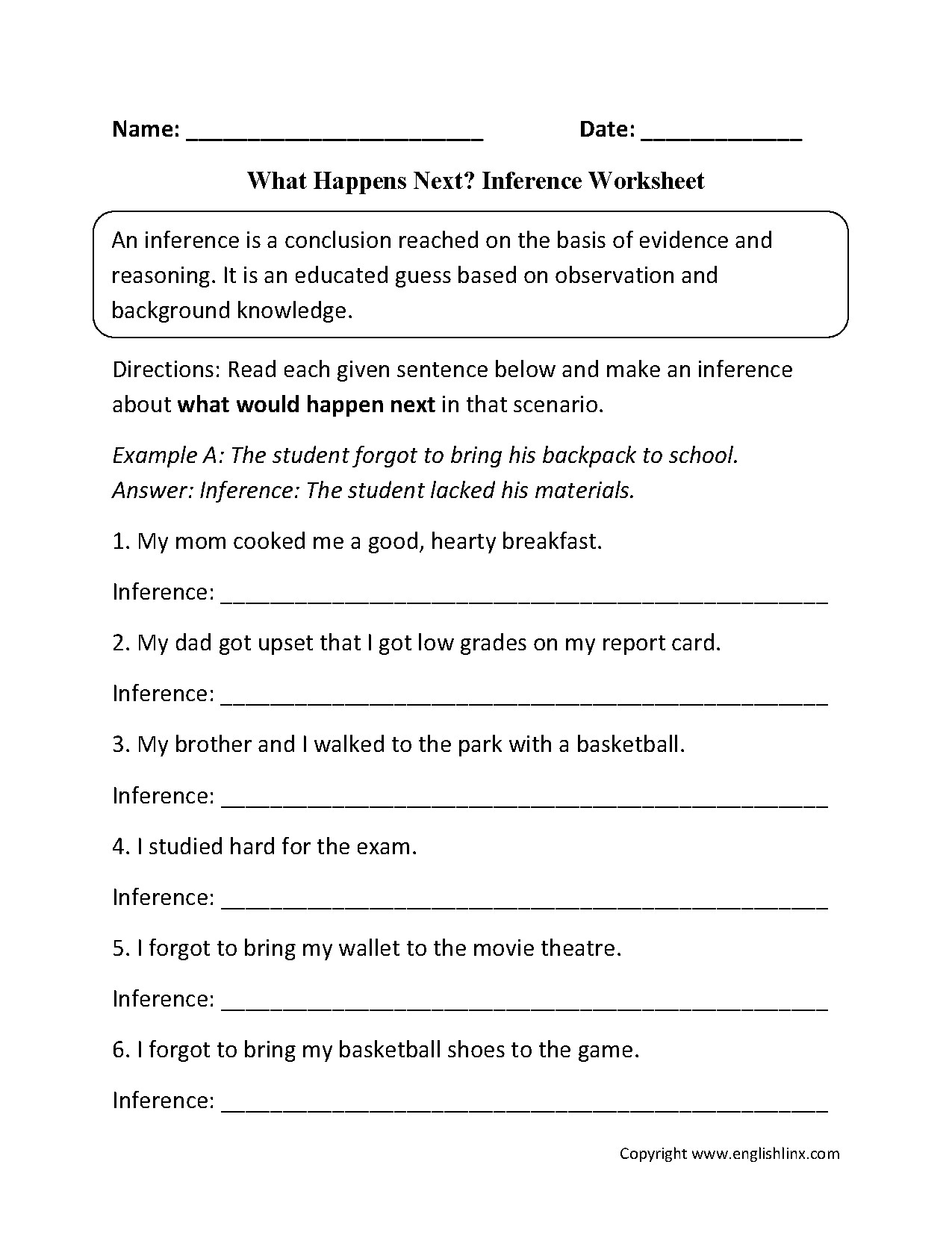 Inferencing Worksheets 4th Grade Making Inferences Worksheets Grade 3