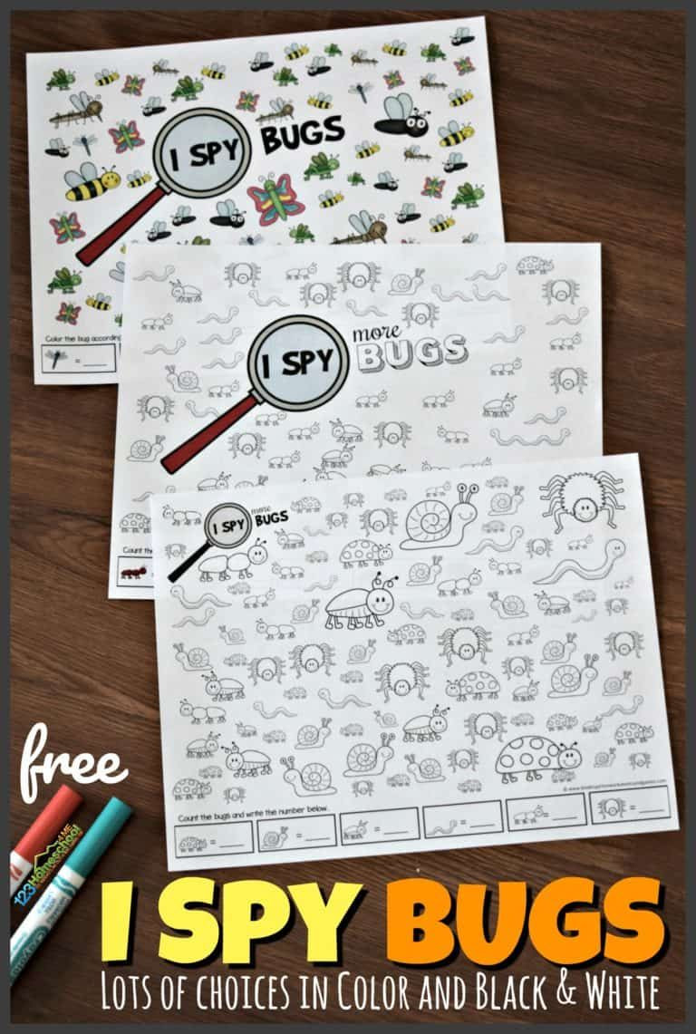 Insect Worksheets for First Grade Free I Spy Bugs