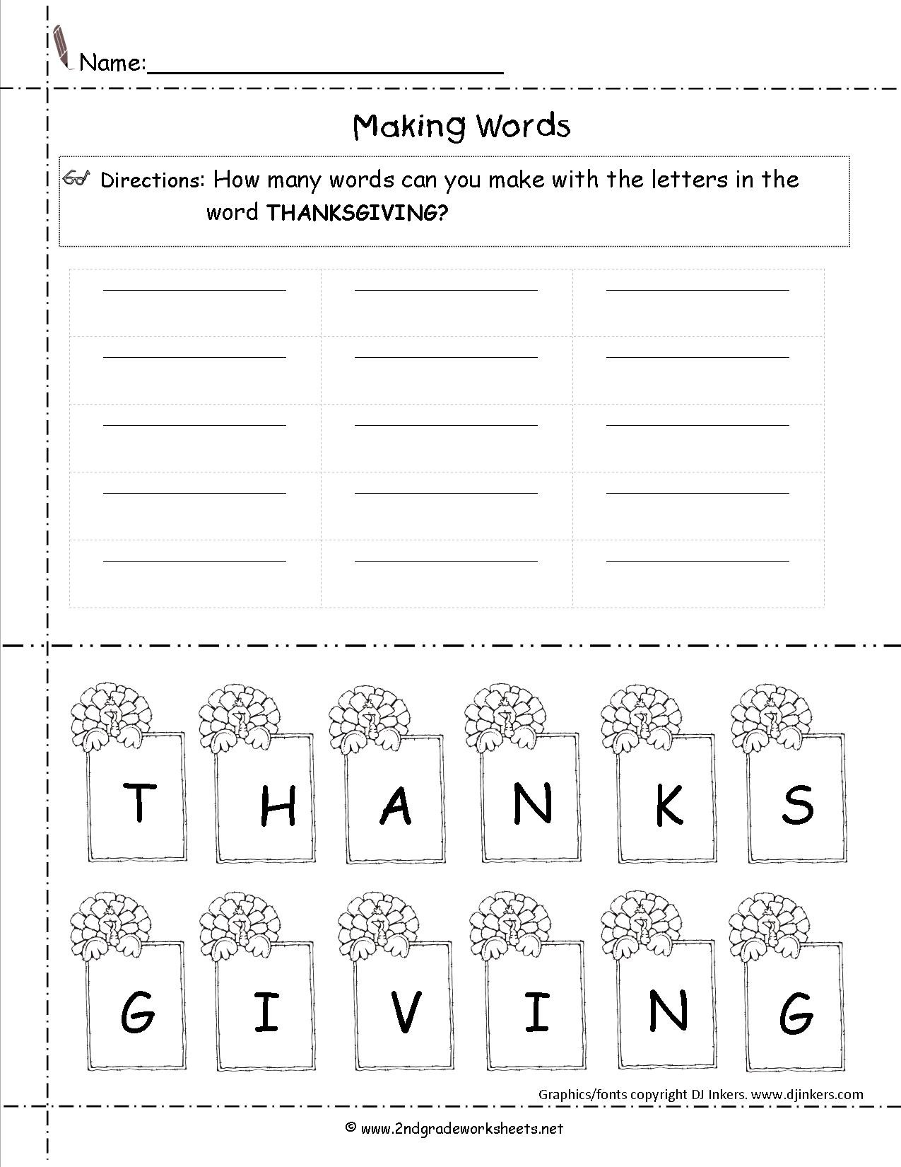 Insect Worksheets for First Grade Thanksgiving Printouts and Worksheets Third Grade