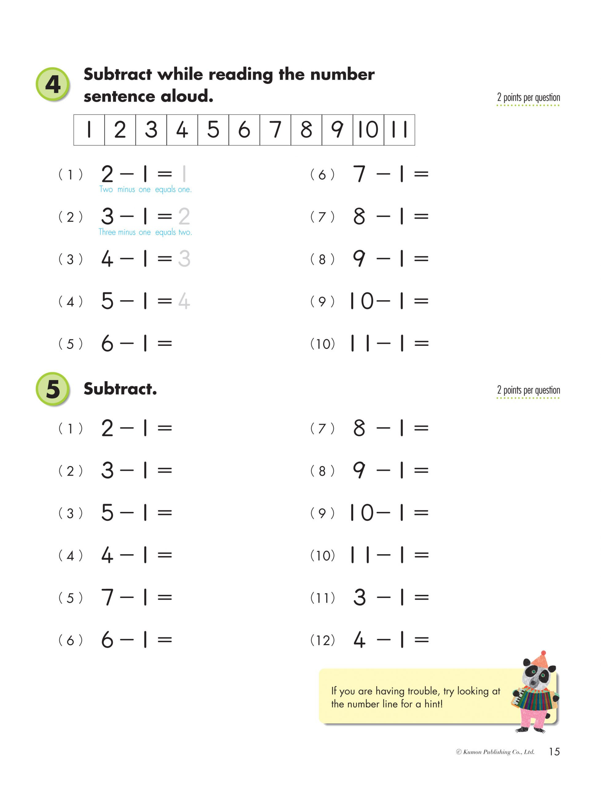 Kumon Printable Worksheets Free Math Worksheet Math Worksheet Extraordinary Grade Maths