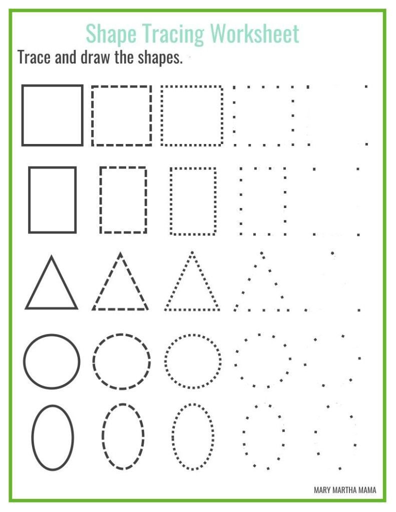 Kumon Printable Worksheets Free Shapes Worksheets for Preschool Free Printables Shape