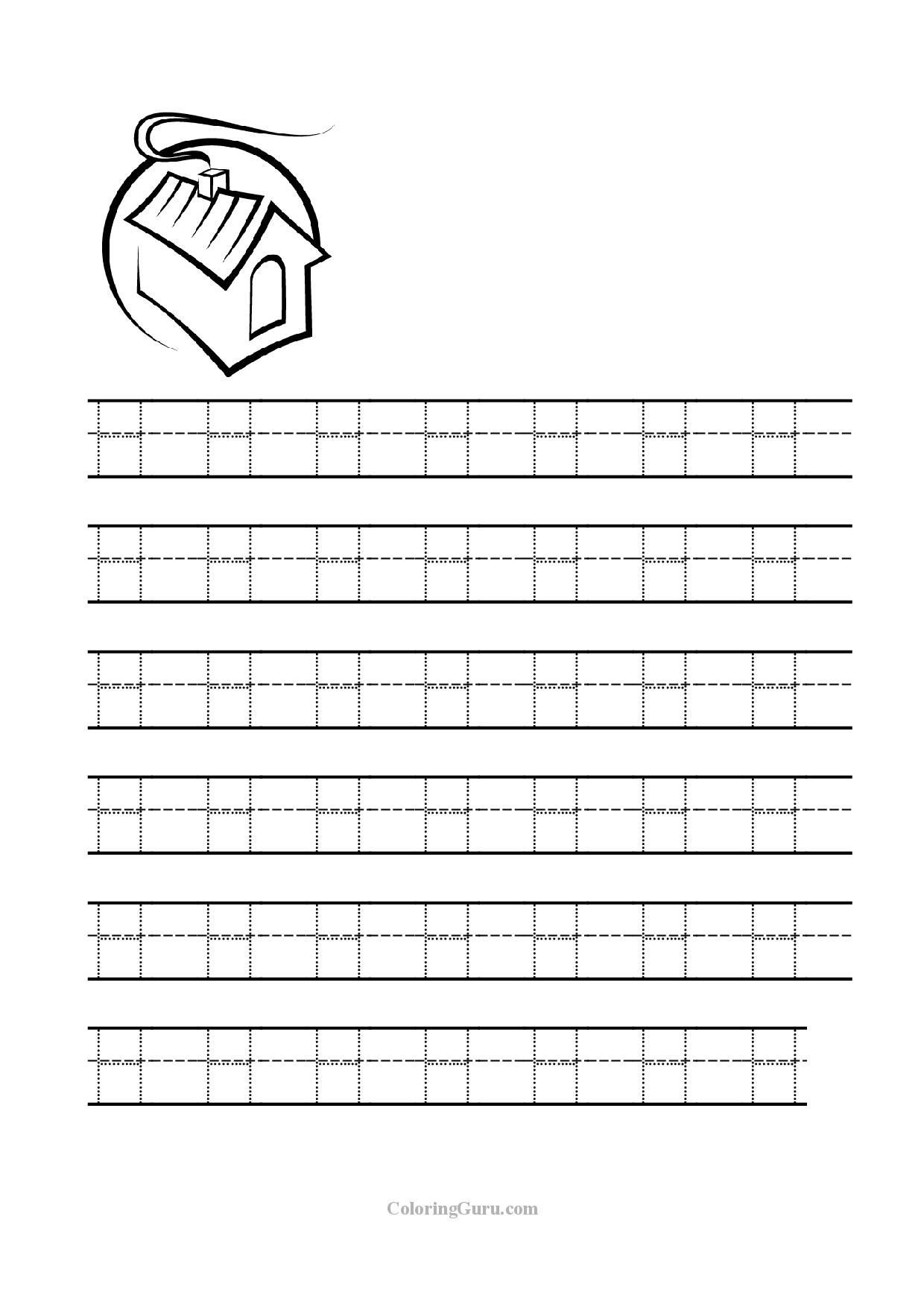 Letter H Tracing Worksheets Preschool Free Printable Tracing Letter H Worksheets for Preschool