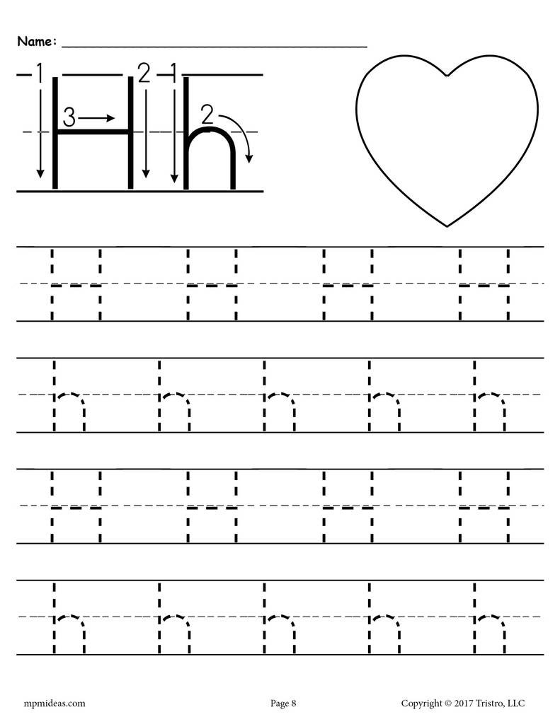 Letter H Worksheets for Preschool Printable Letter H Tracing Worksheet