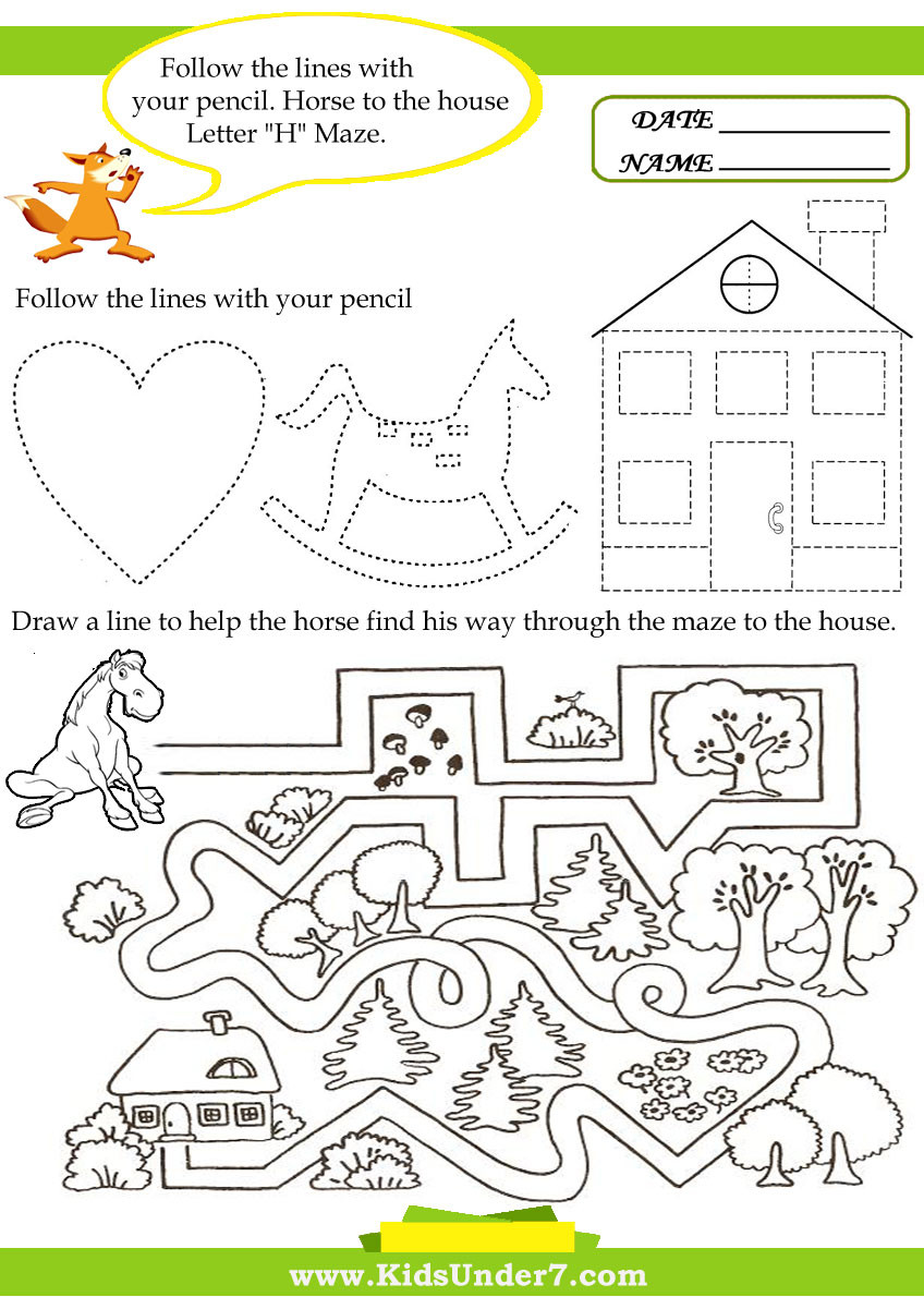 Letter H Worksheets Preschool Kids Under 7 Letter H Worksheets