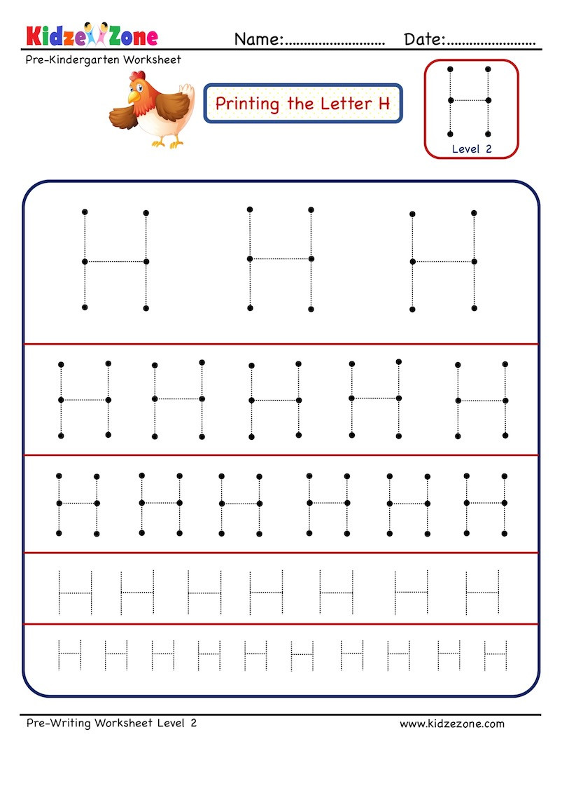 Letter H Worksheets Preschool Preschool Letter Tracing Worksheet Letter H Different