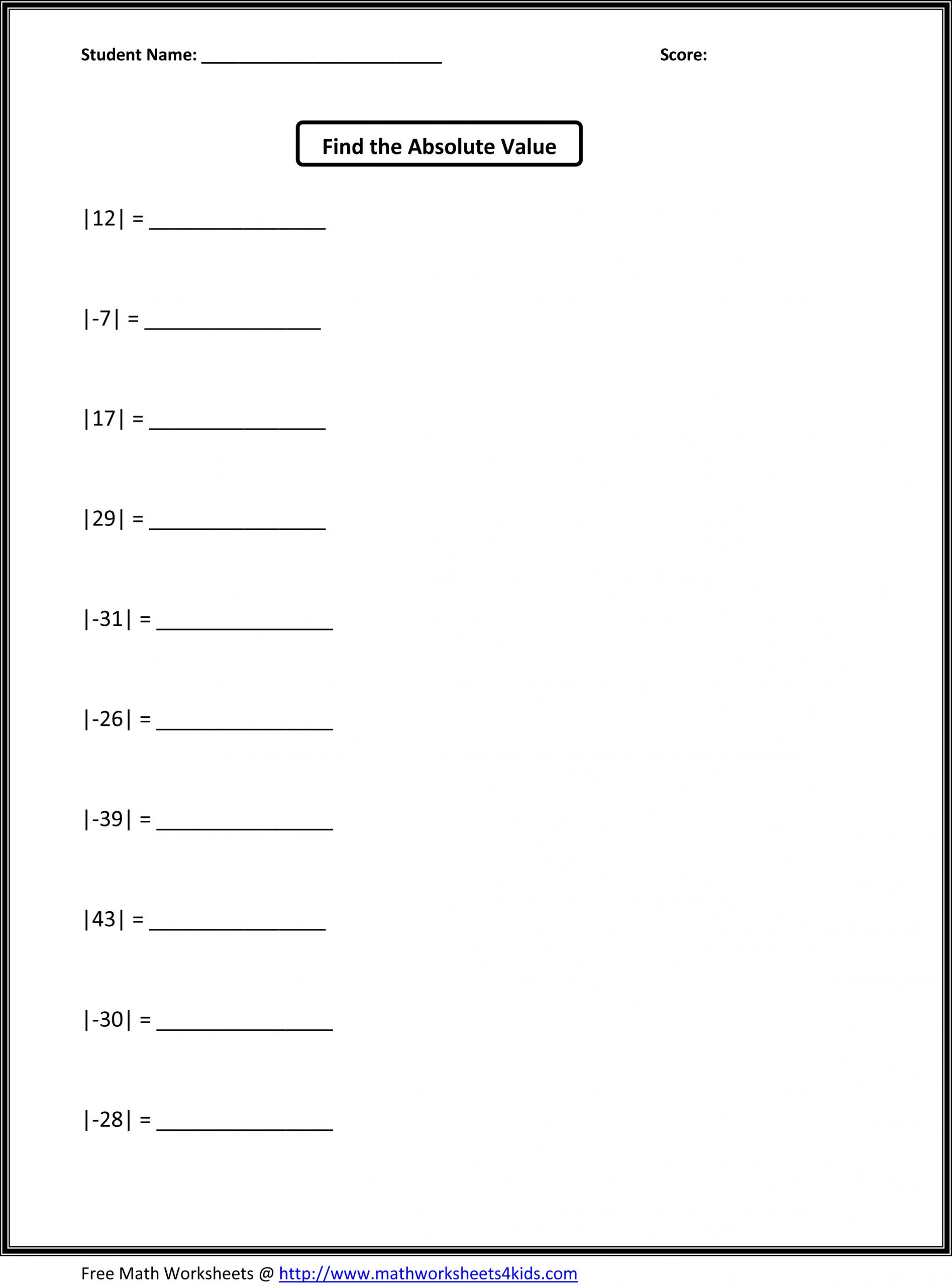 Line Graph Worksheet 5th Grade Absolute Value Lessons Tes Teach