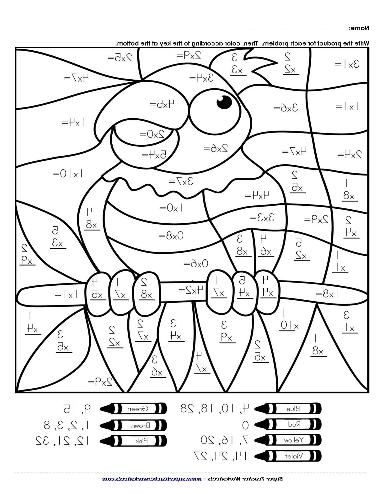 Math Coloring Worksheets 3rd Grade Fun Thirdrade Math Printables Tests Reading Prehension