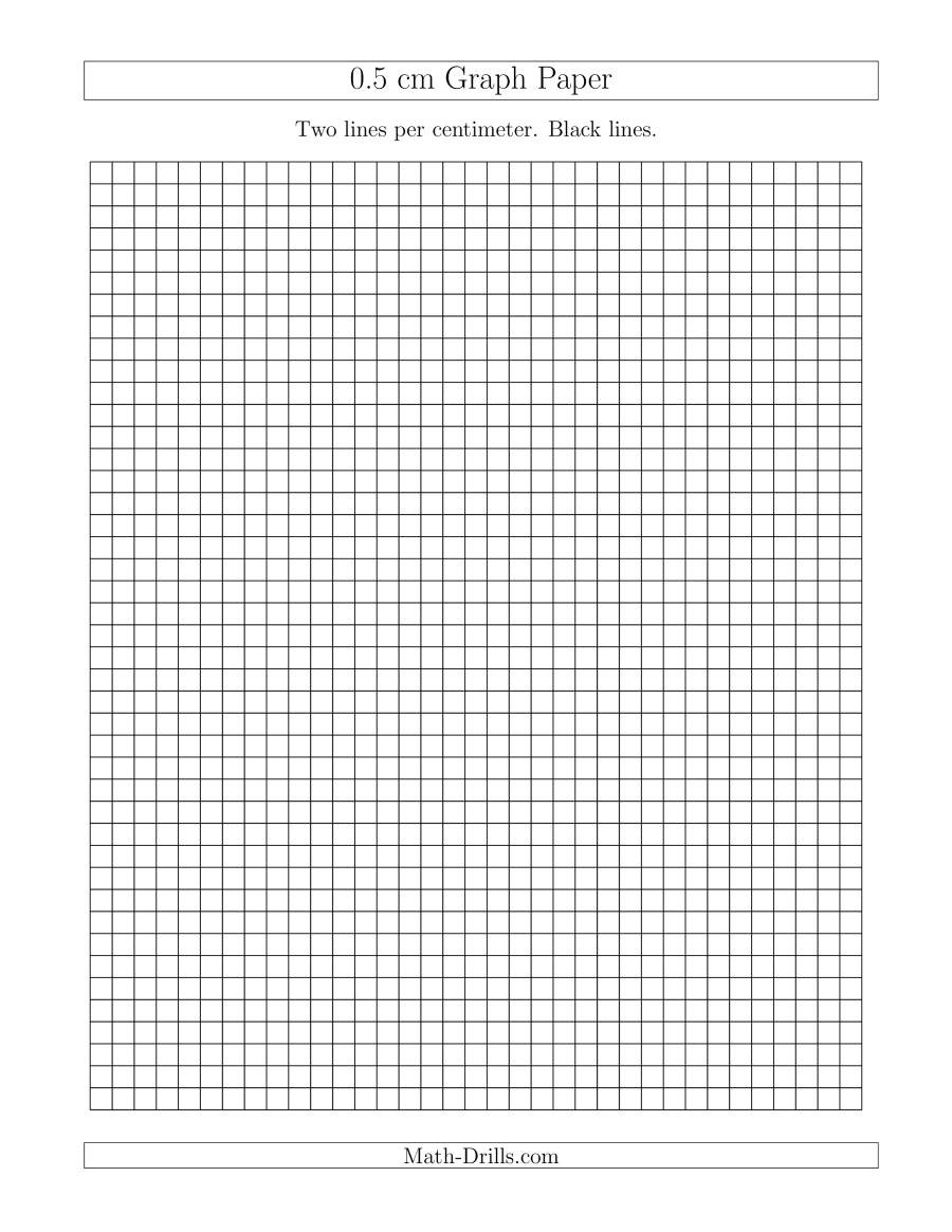 Math Drills Graph Paper 0 5 Cm Graph Paper with Black Lines A