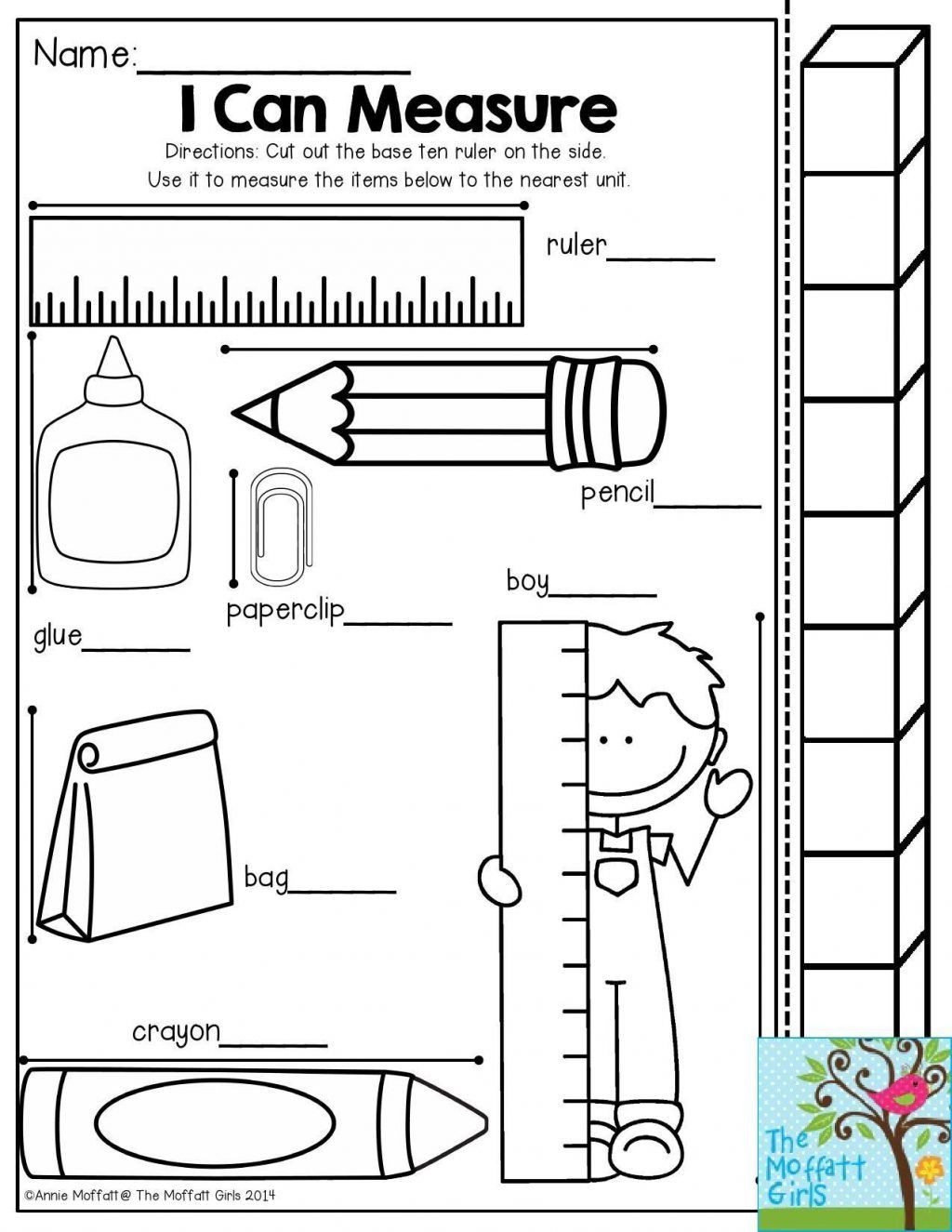 Measurement Worksheet 3rd Grade 1st Grade Measurement Worksheets