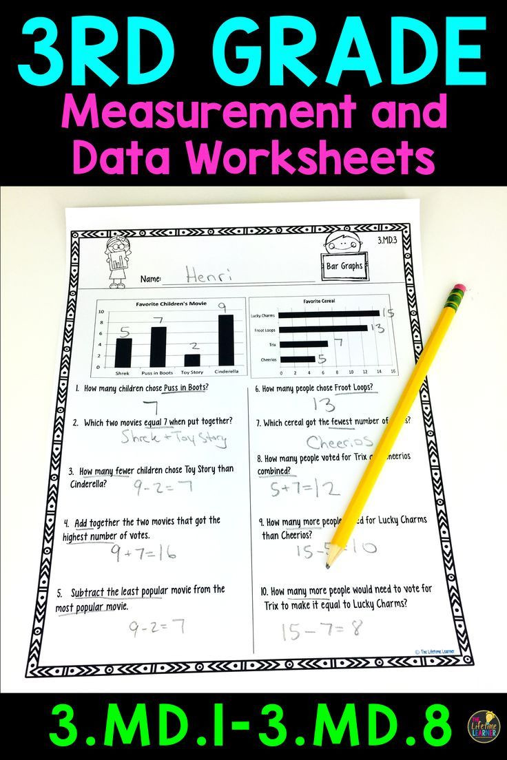 Measurement Worksheet 3rd Grade 3rd Grade Measurement and Data Worksheets