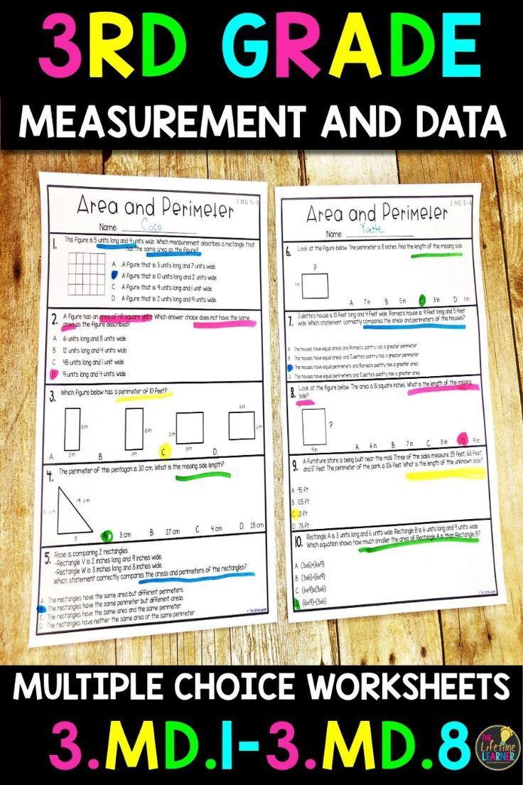 Measurement Worksheet 3rd Grade Measurement and Data Worksheets