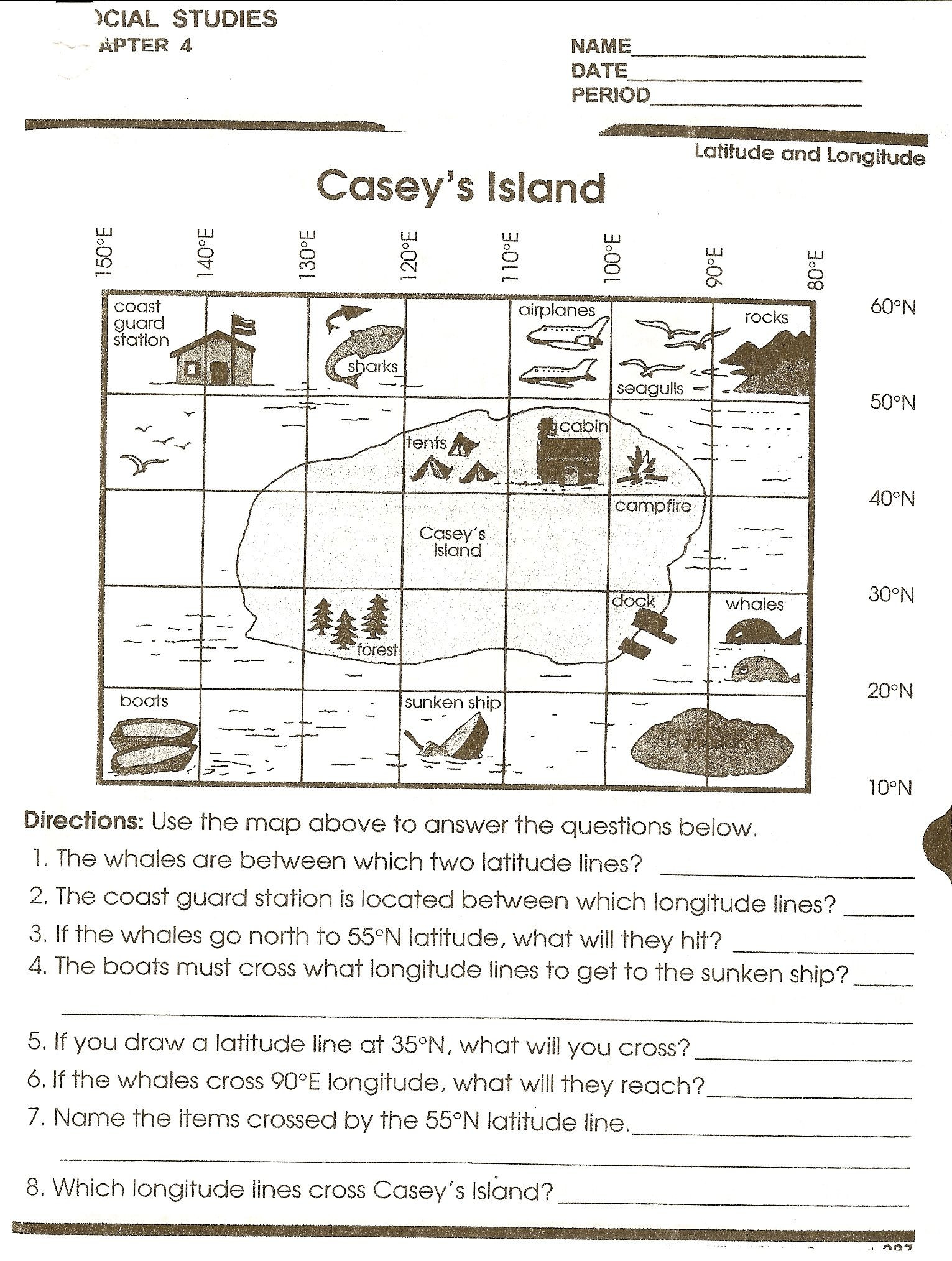 Middle School Map Skills Worksheets social Stu S Skills