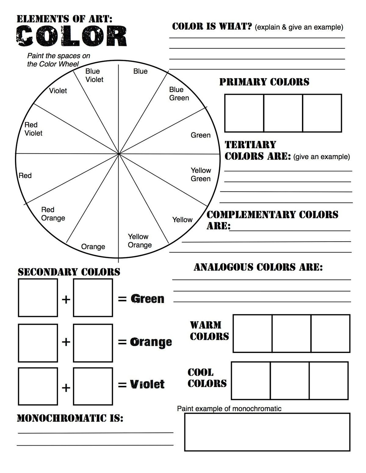 Mood Worksheets for Middle School Worksheet