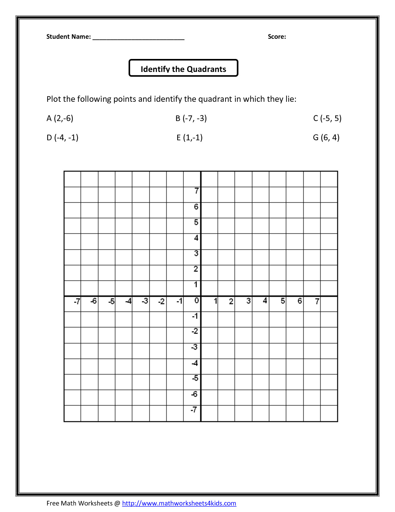 Mystery Graph Pictures Printable Free Cartoon Coordinate Grid Worksheets