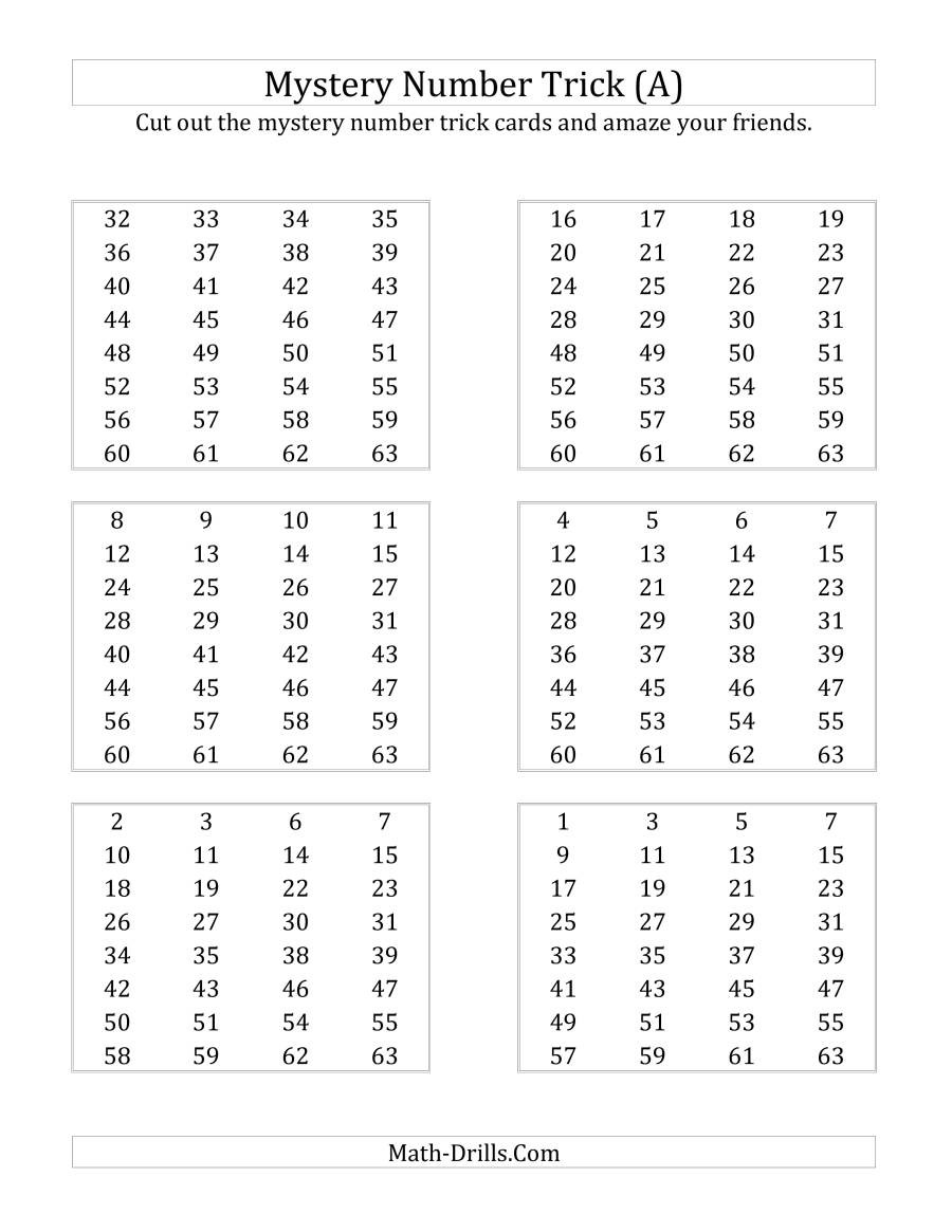 Mystery Graph Pictures Printable Free Math Worksheet Mystery Number Trick