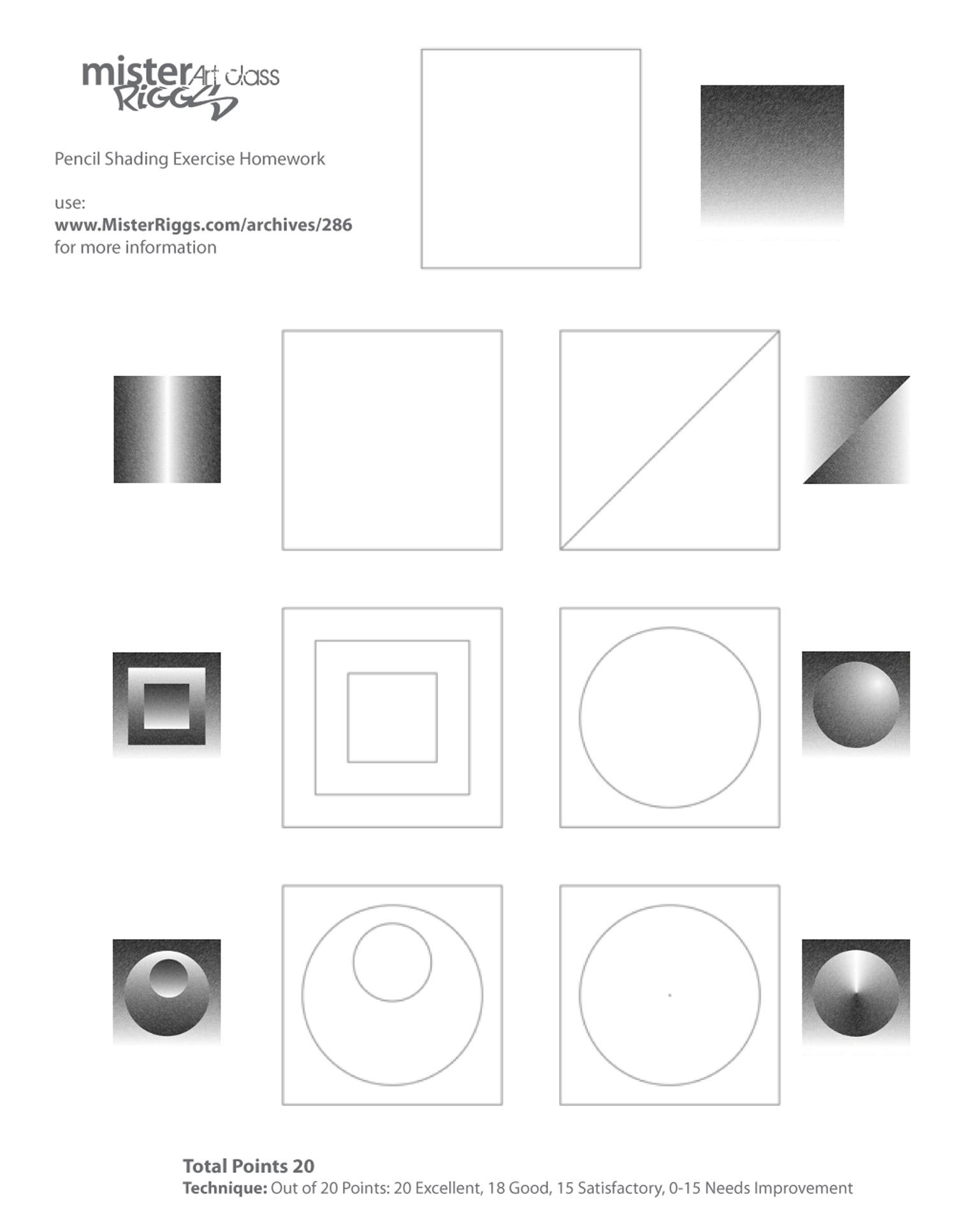 Optical Illusion Worksheets Printable Great Pencil Shading Exercises Teaching