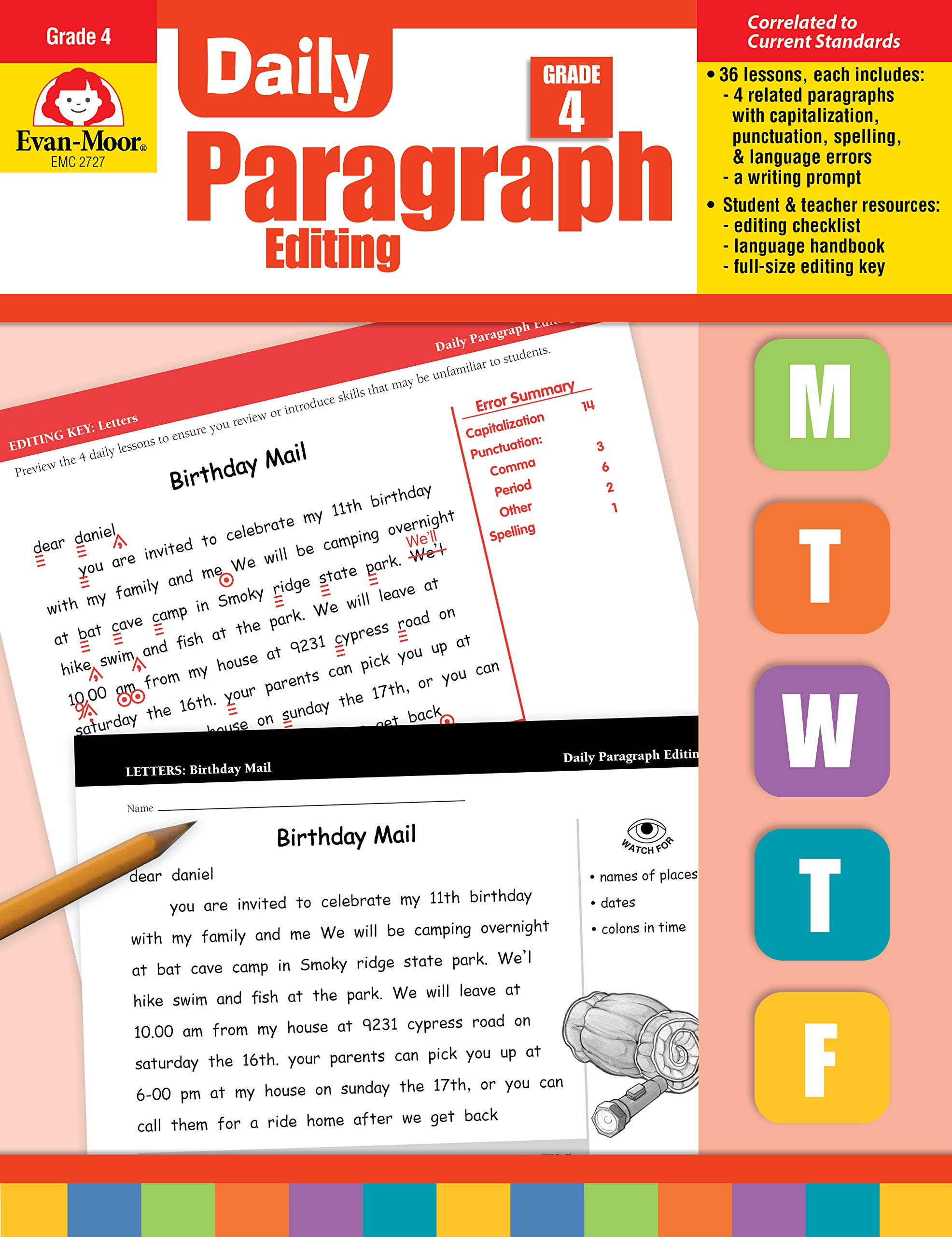 Paragraph Editing Worksheets 4th Grade Amazon Evan Moor Daily Paragraph Editing Grade 4