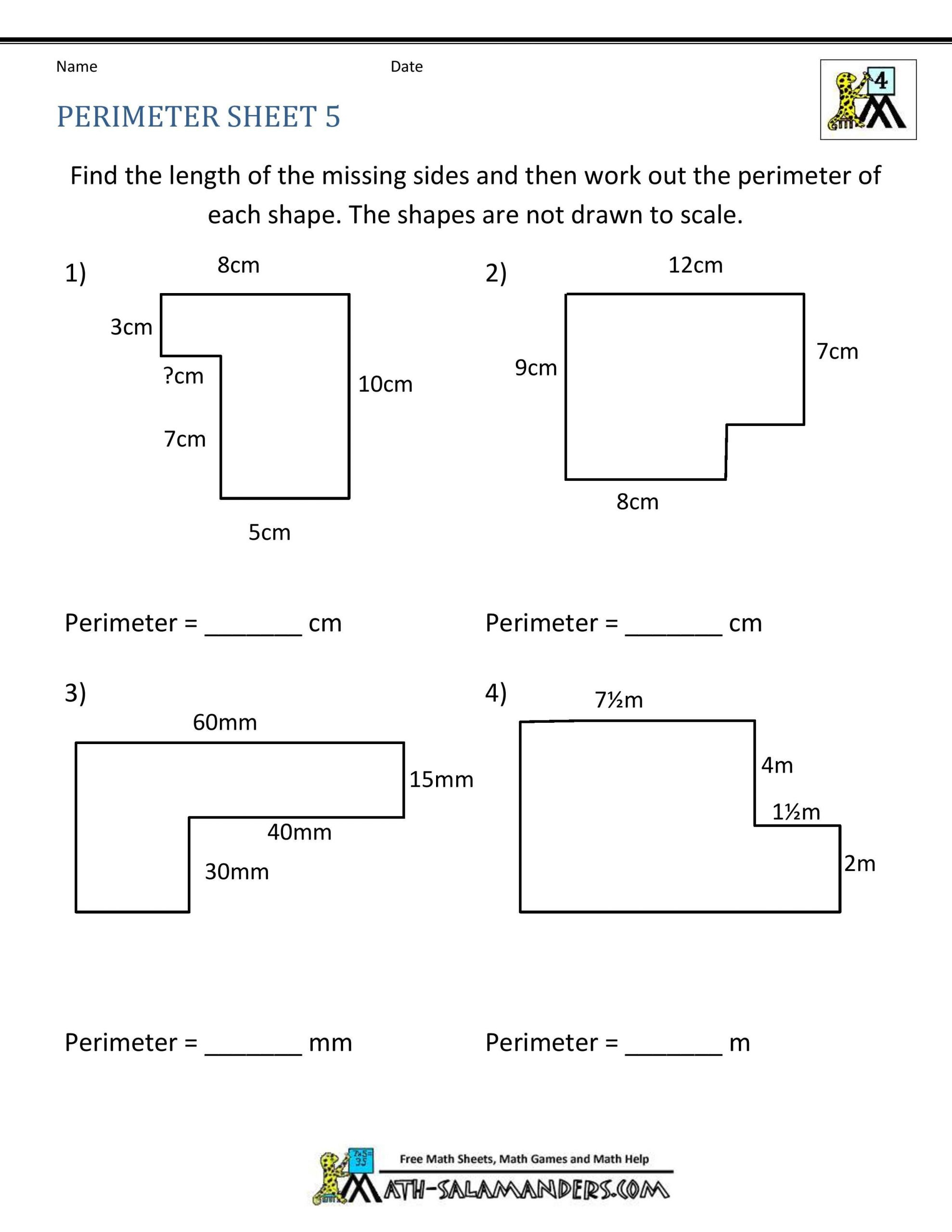 Perimeter Worksheets 3rd Grade Pdf ✅ Best 10 area and Perimeter Worksheet In 2020