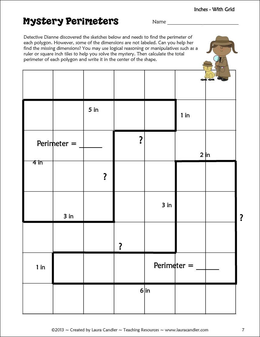 Perimeter Worksheets 3rd Grade Pdf Perimeter Activity Freebie
