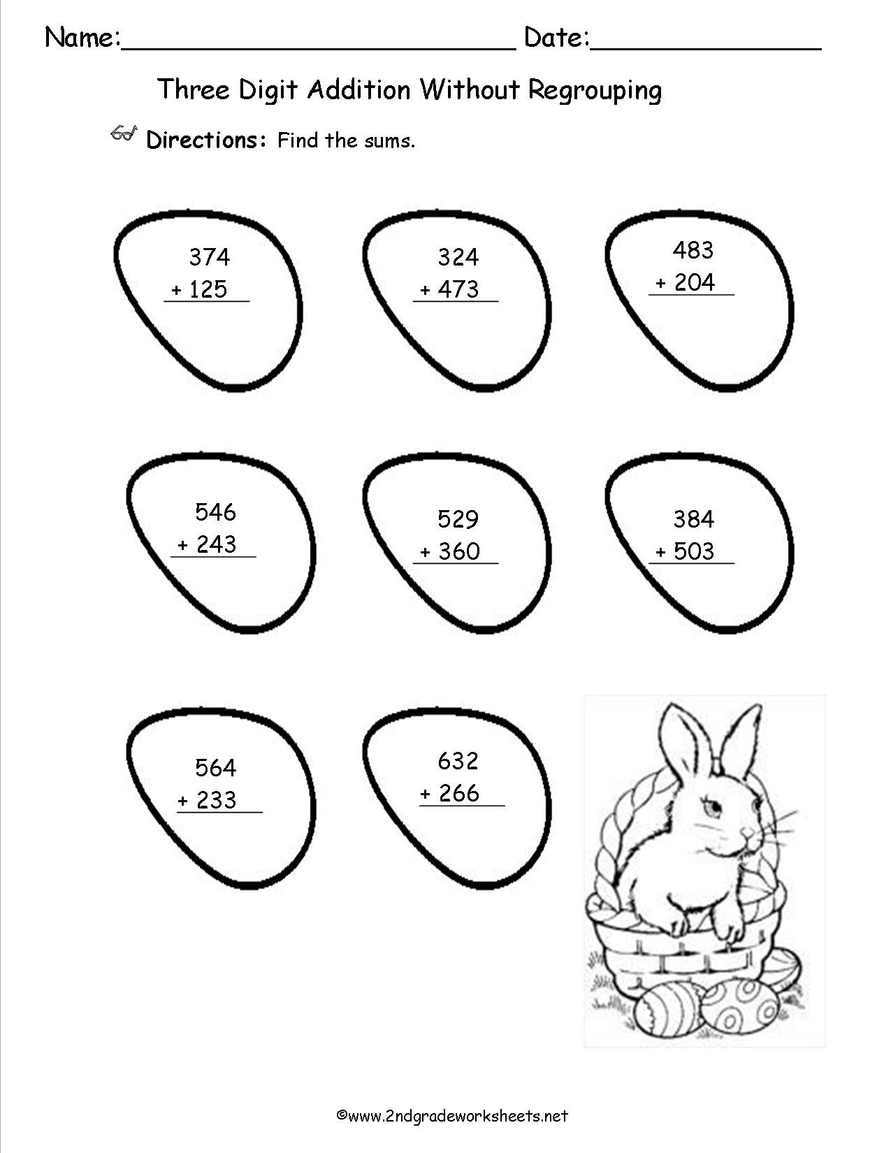 Picture Graph Worksheets 2nd Grade Easter Worksheets and Printouts Bar Graph for 2nd Grade Math