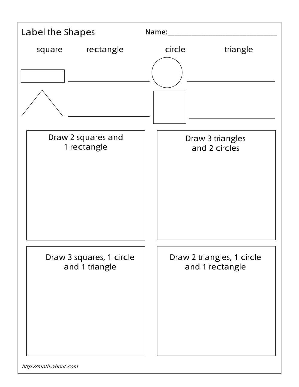 Polygon Worksheets 4th Grade 1st Grade Geometry Worksheets for Students
