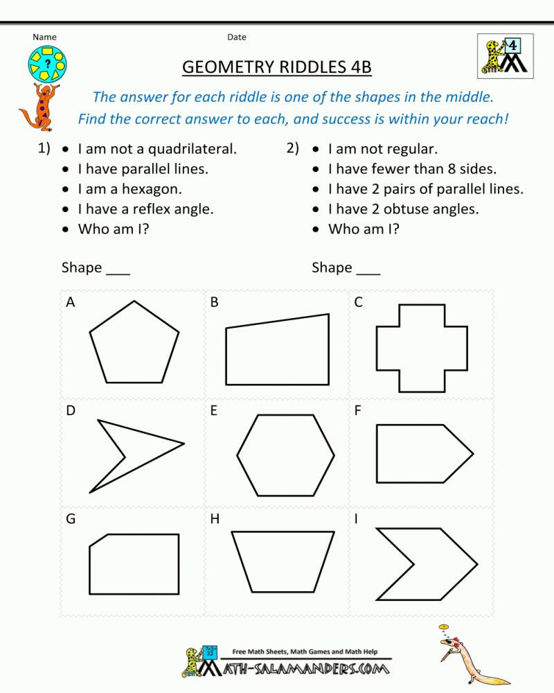 Polygon Worksheets 4th Grade Pin On Symmetry