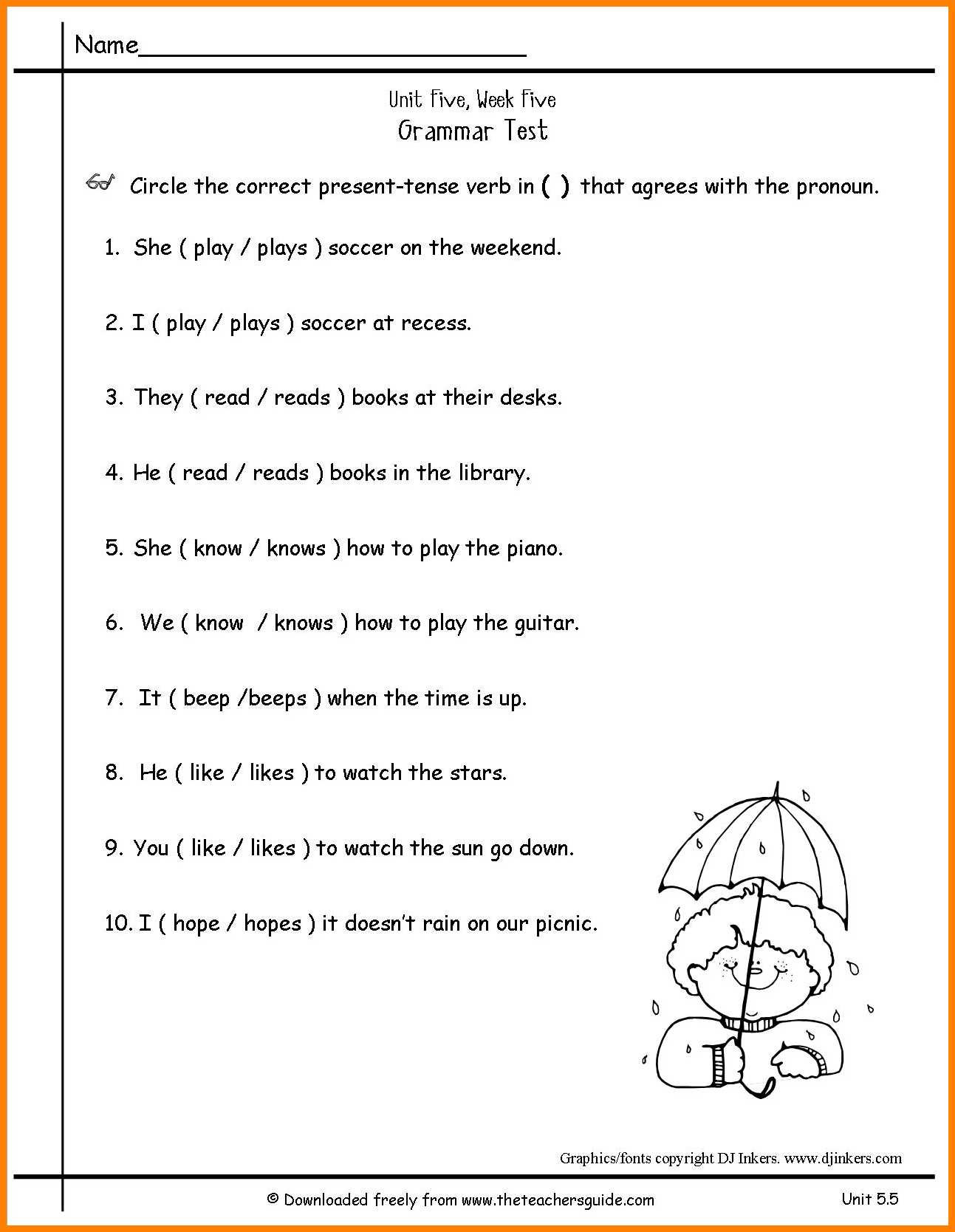 Possessive Pronouns Worksheet 2nd Grade Pronoun Worksheets Free Elementary