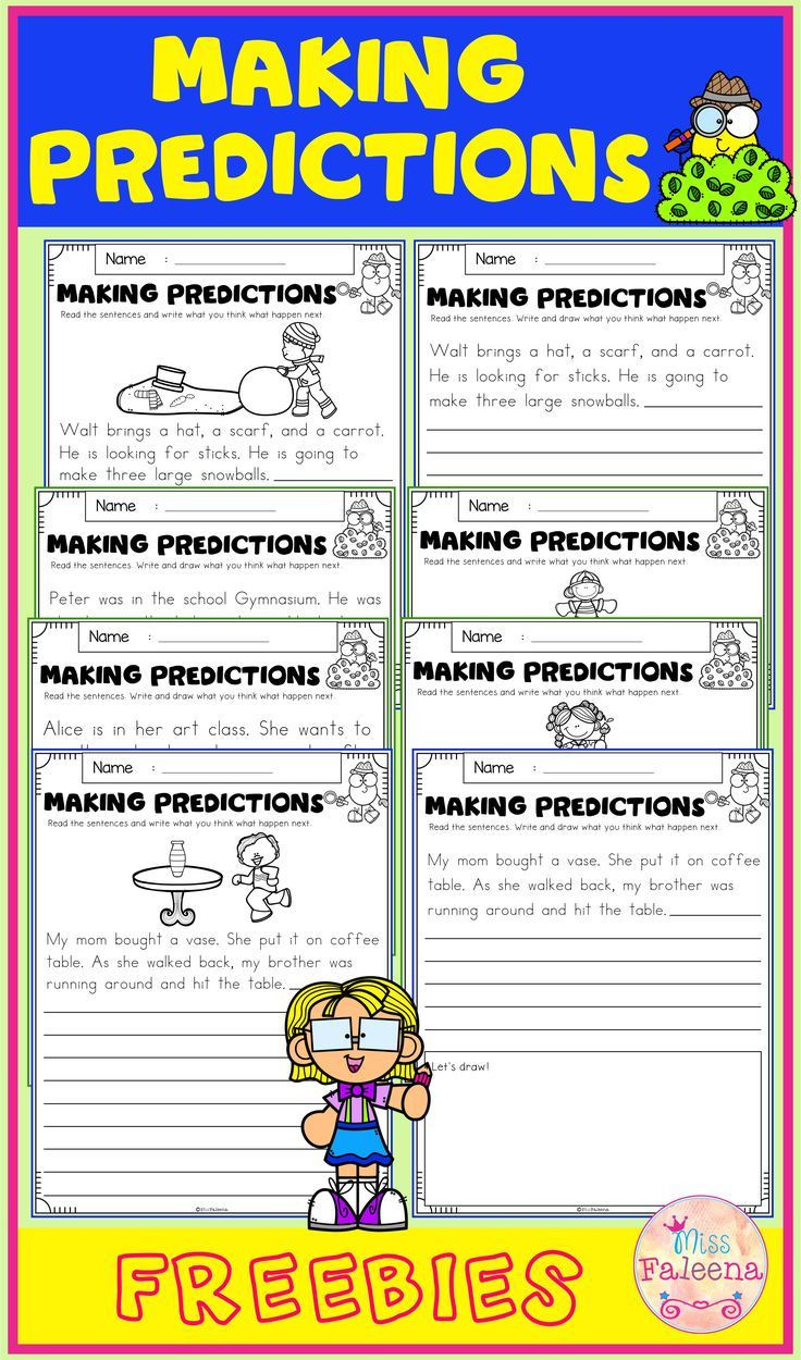 Prediction Worksheets for 2nd Grade Free Making Predictions