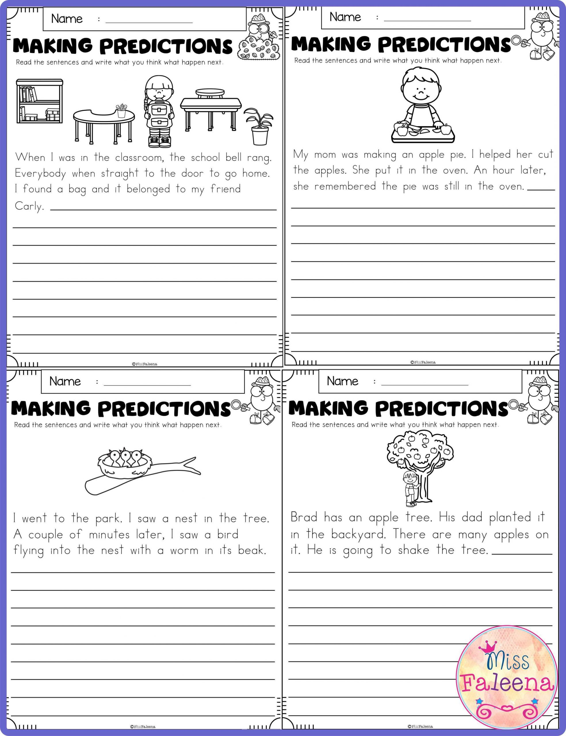 Prediction Worksheets for 3rd Grade September Making Predictions In 2020 with Images