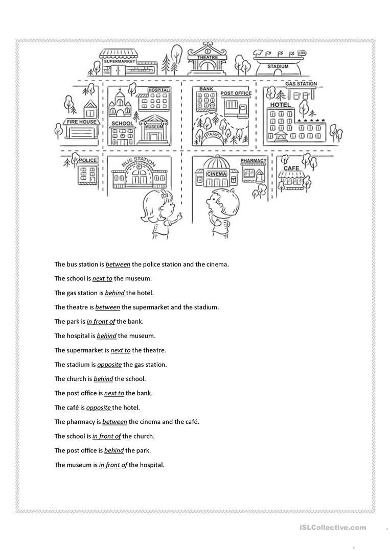 Preposition Worksheets for Middle School Prepositions Of Place In 2020
