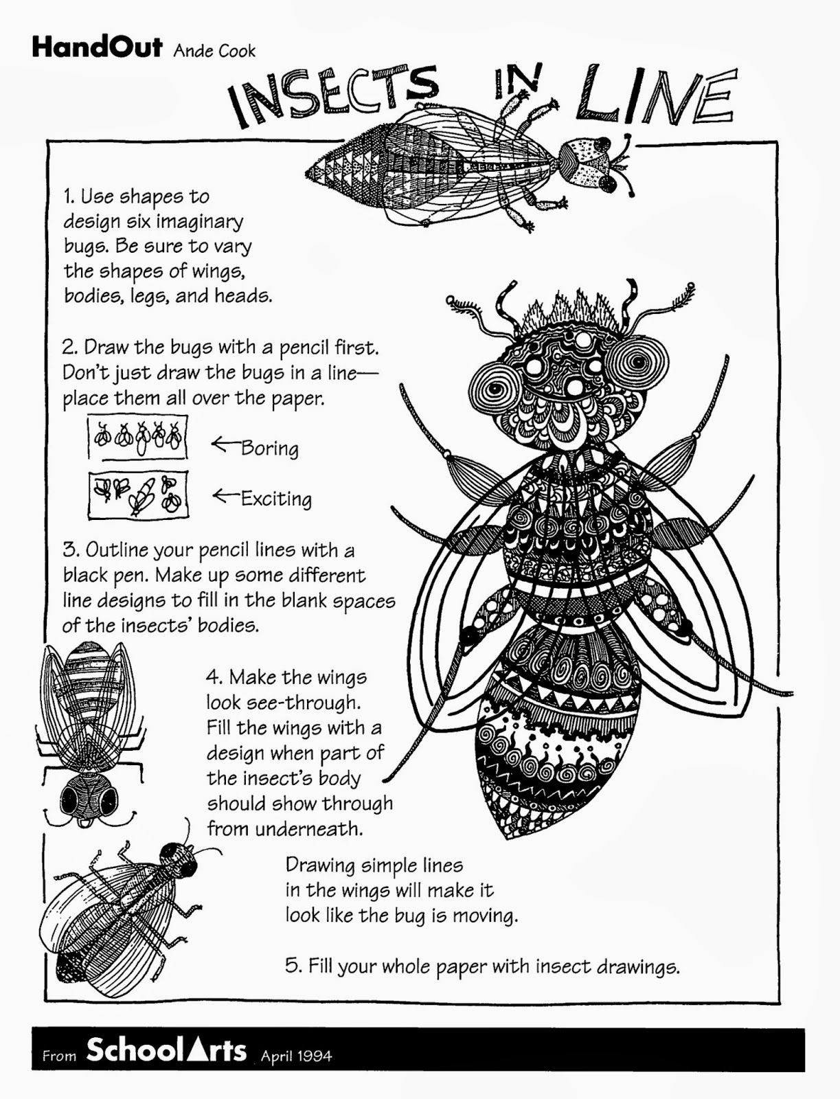 Preschool Bug Worksheets Free Handout and Lesson for Insects In Line with