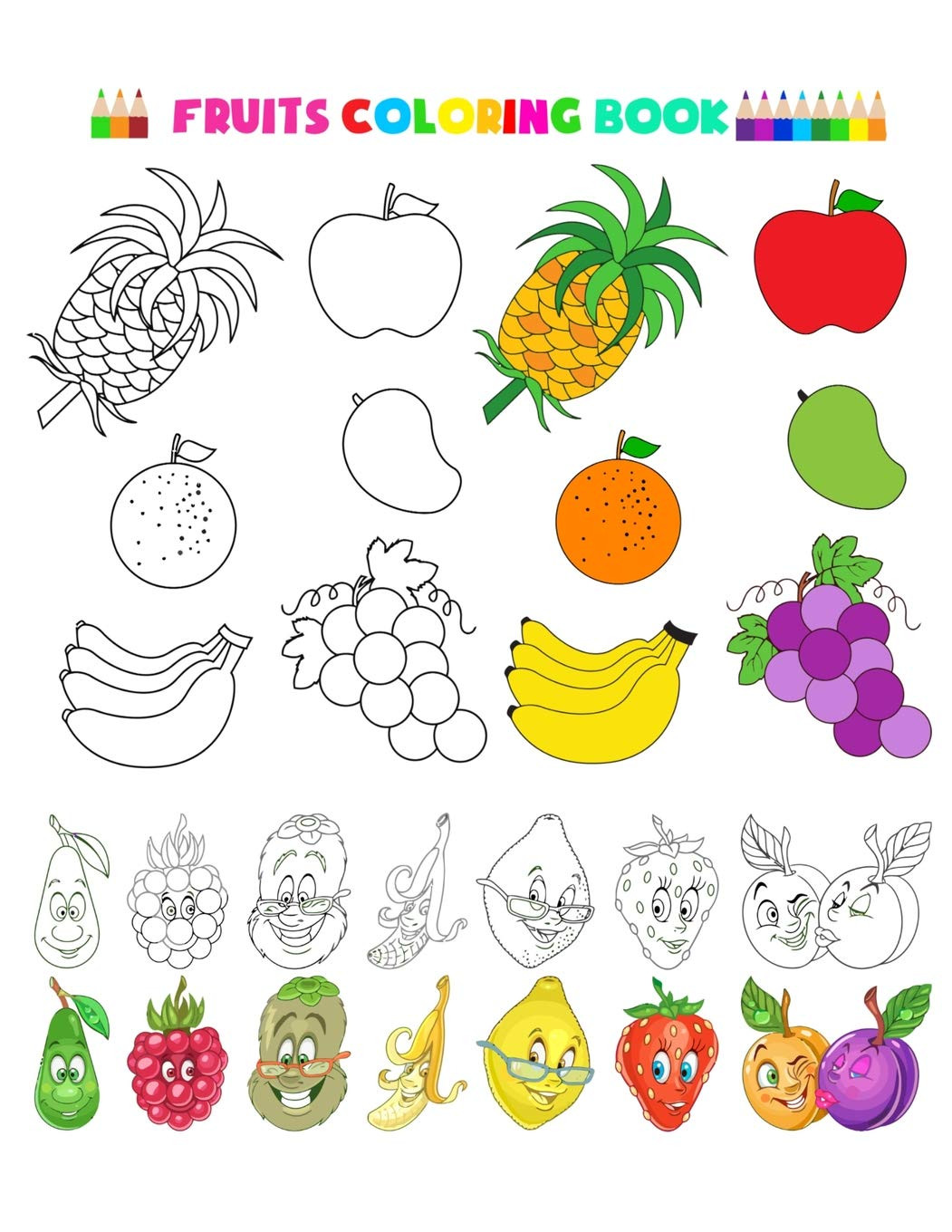 Preschool Fruits and Vegetables Worksheets Excelent Coloring Fruits and Ve Ables Picture Inspirations