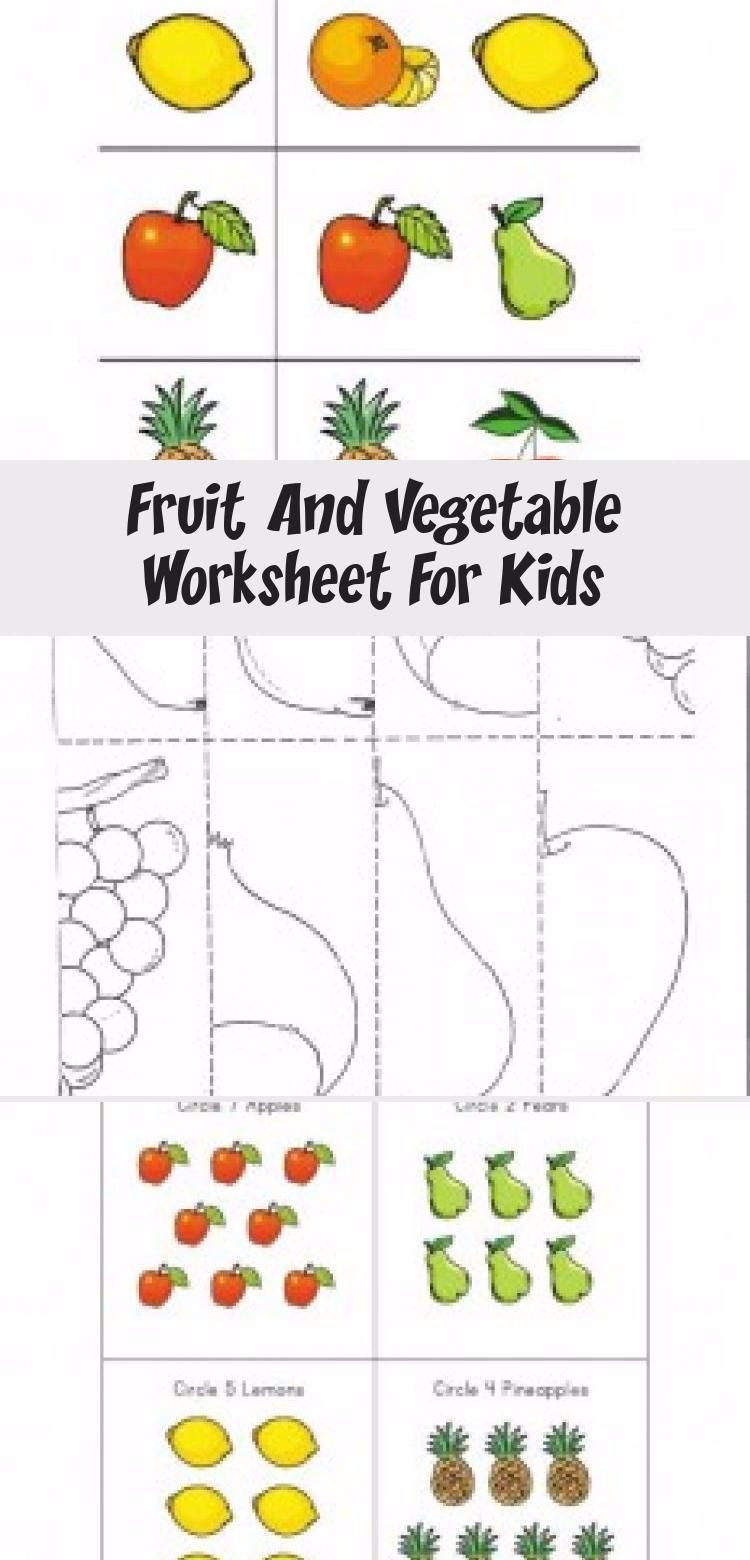 Preschool Fruits and Vegetables Worksheets Fruit Ve Ables Worksheet In 2020 with Images