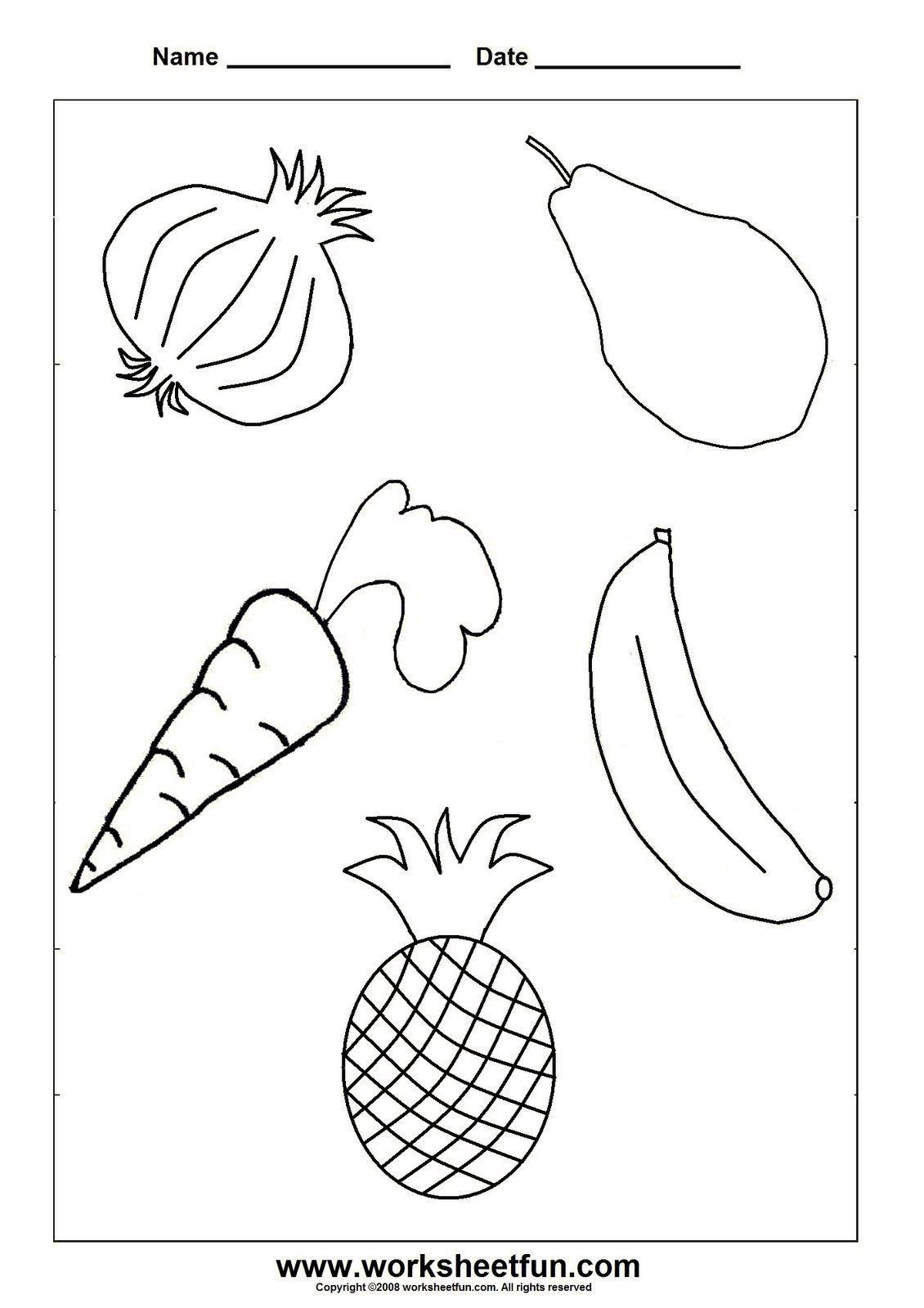 Preschool Fruits and Vegetables Worksheets Pin On Skool